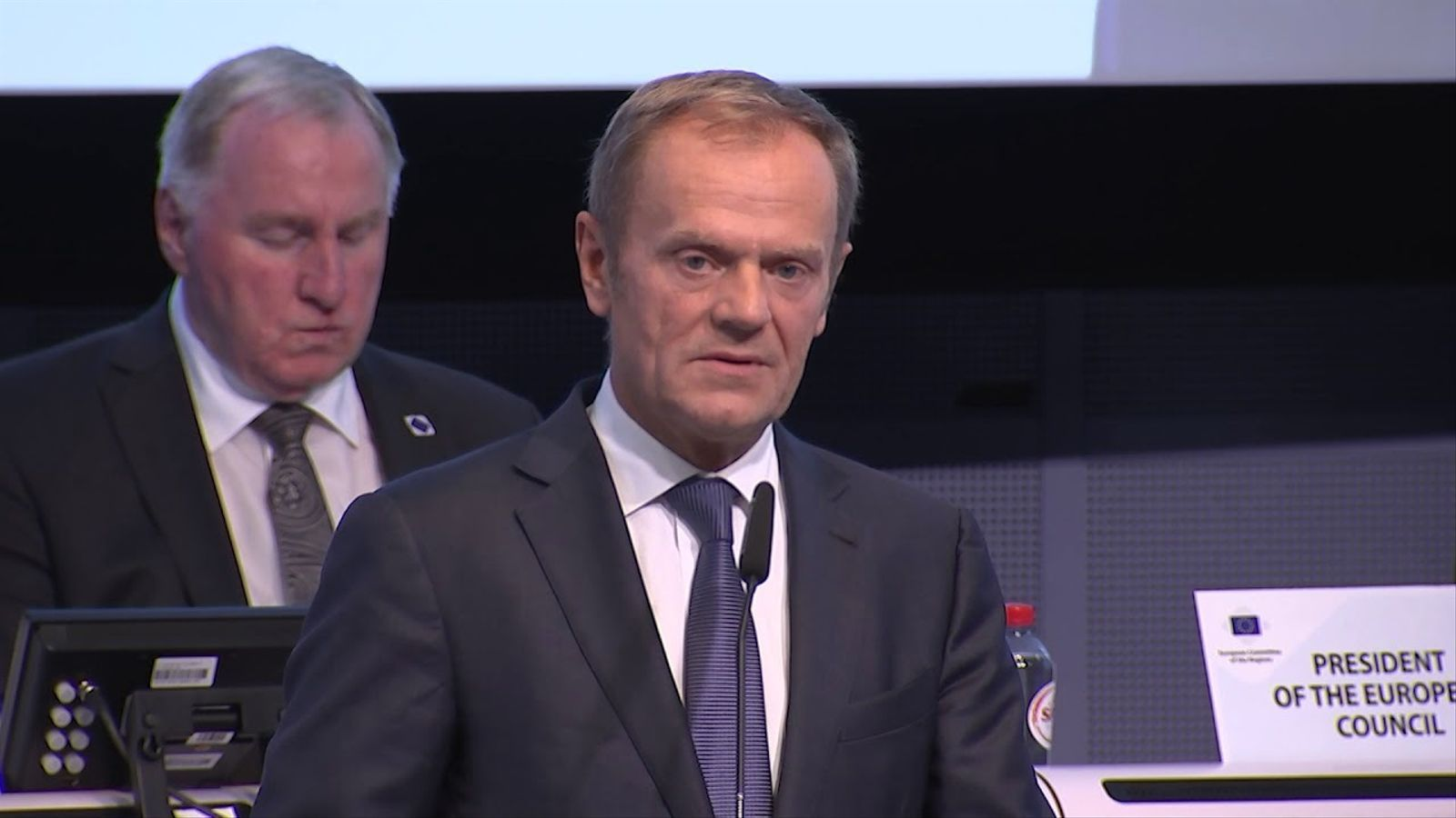 Discurs de Donald Tusk referint-se al conflicte català