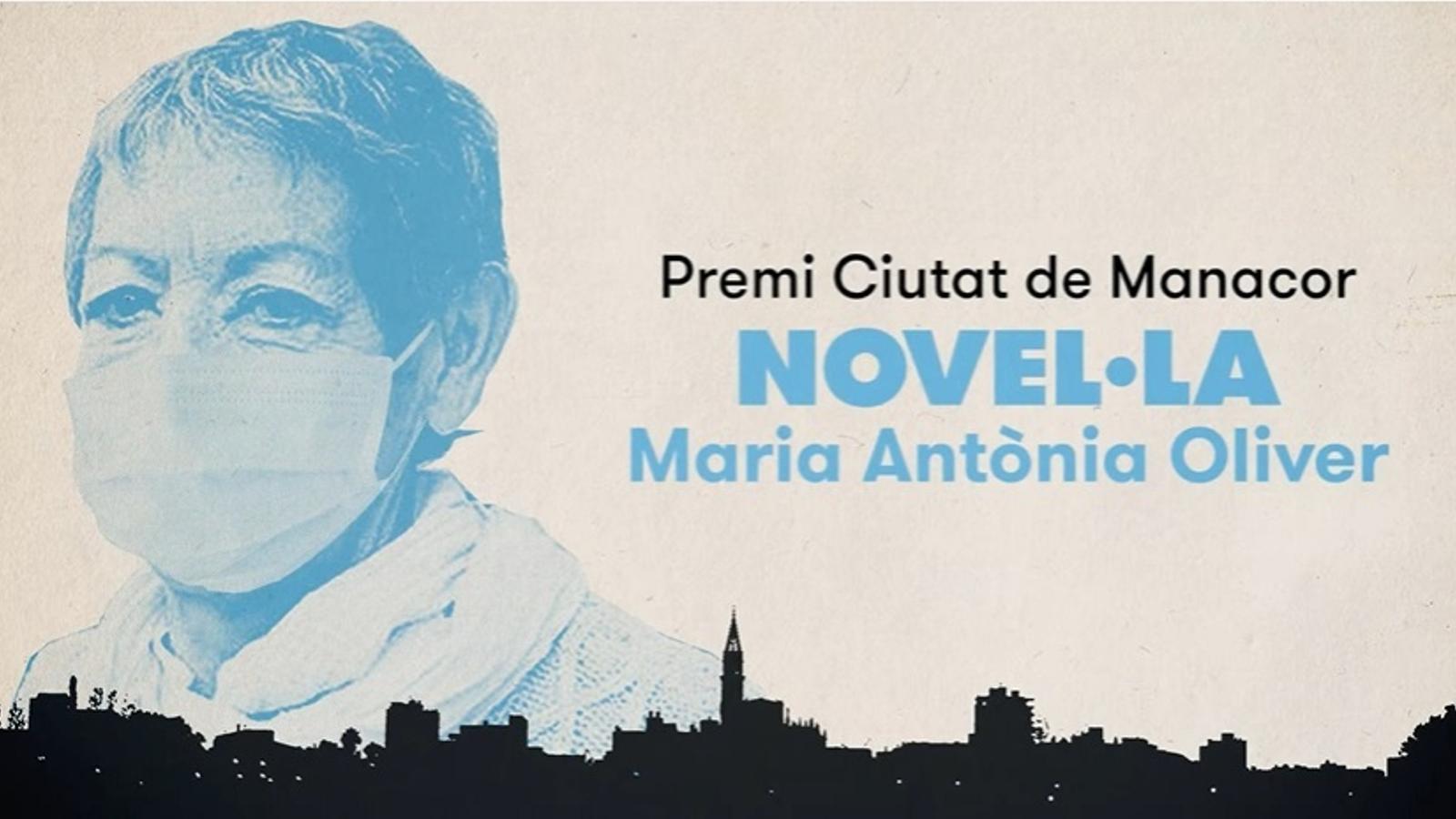 Fotograma del vídeo en què l'Ajuntament de Manacor revela el guanyador del premi Ciutat de Manacor de novel·la