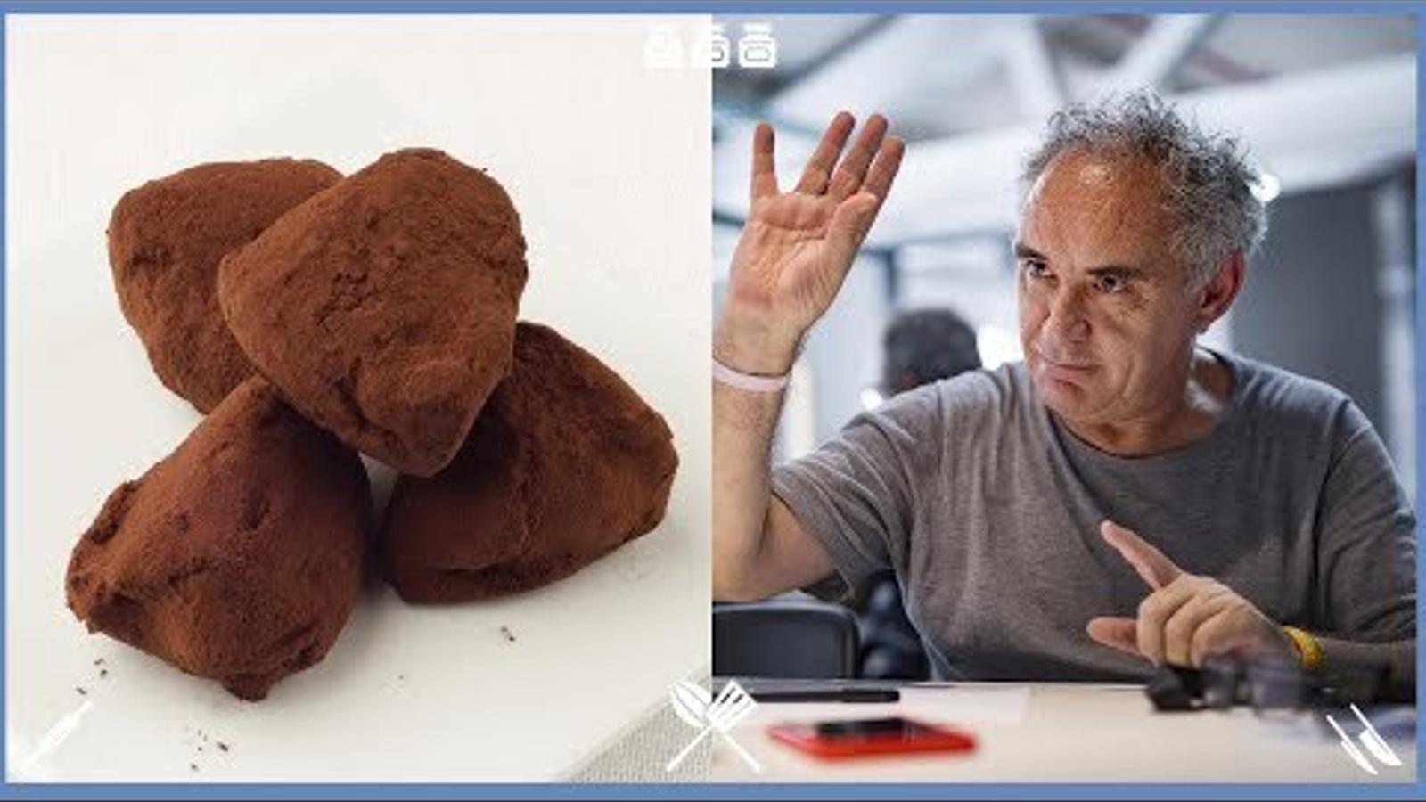 Com fer trufes de xocolata? Recepta del cuiner Ferran Adrià