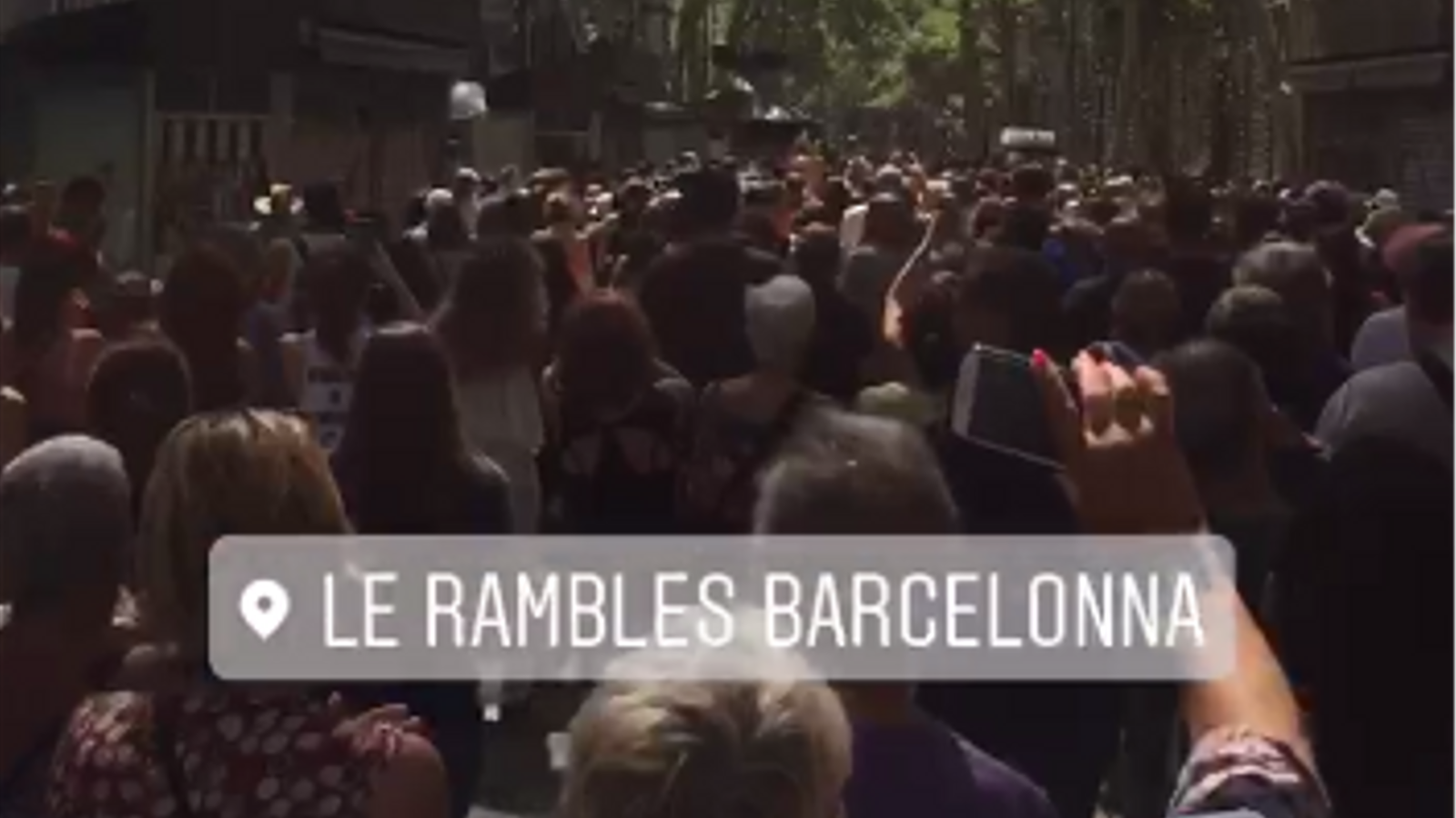 El vídeo que ha gravat un dels assistents a la protesta contra el terrorisme