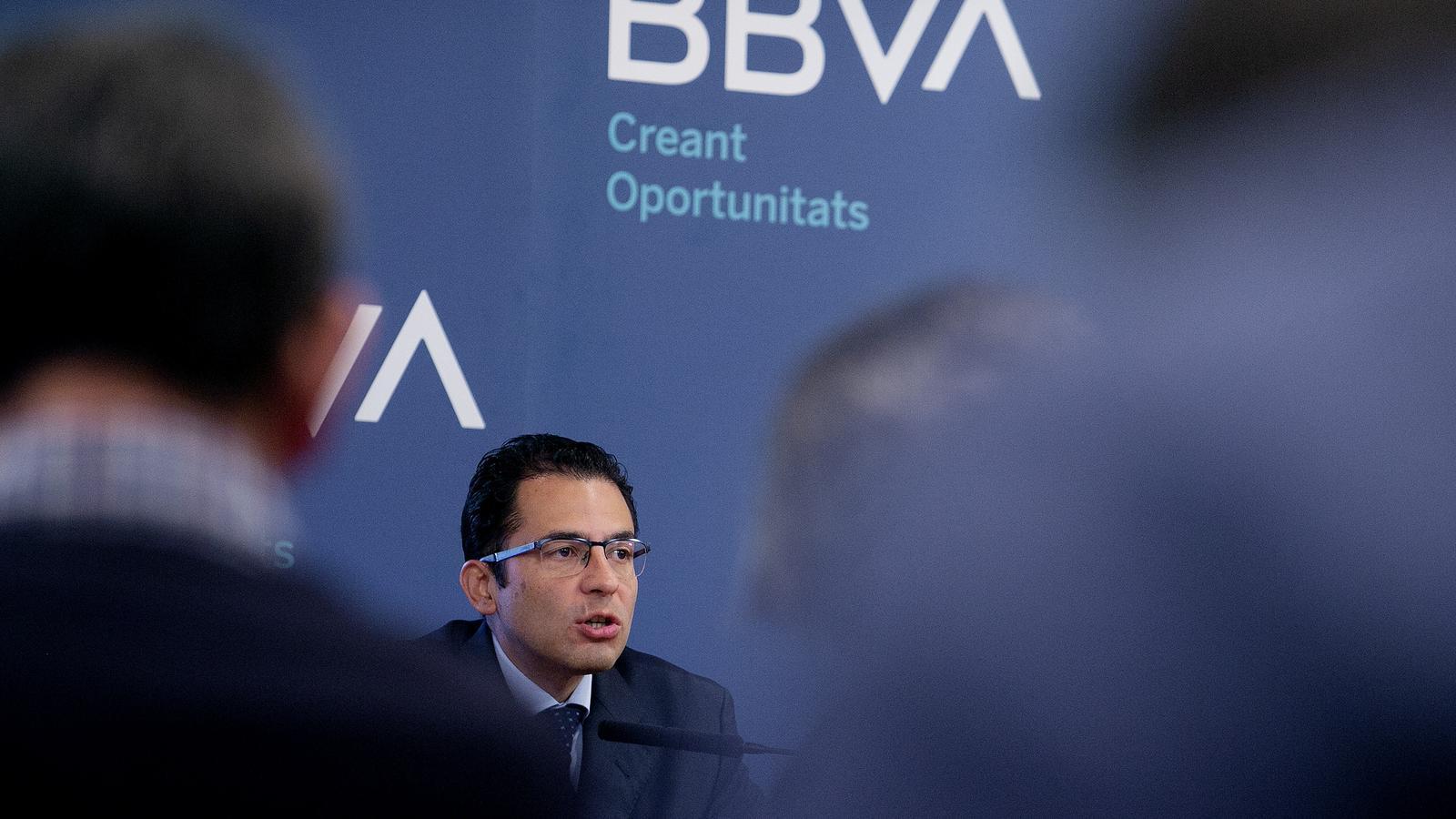 Roda de premsa de presentació de l'informe BBVA