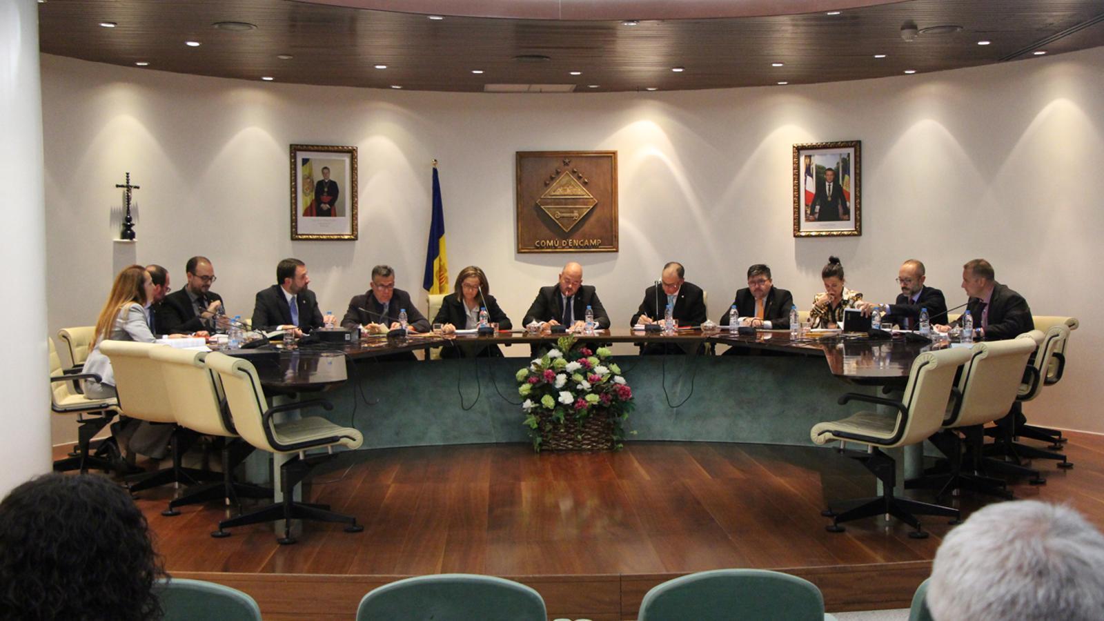 Sessió de consell de comú d'Encamp celebrada aquest dijous. / T. N. (ANA)