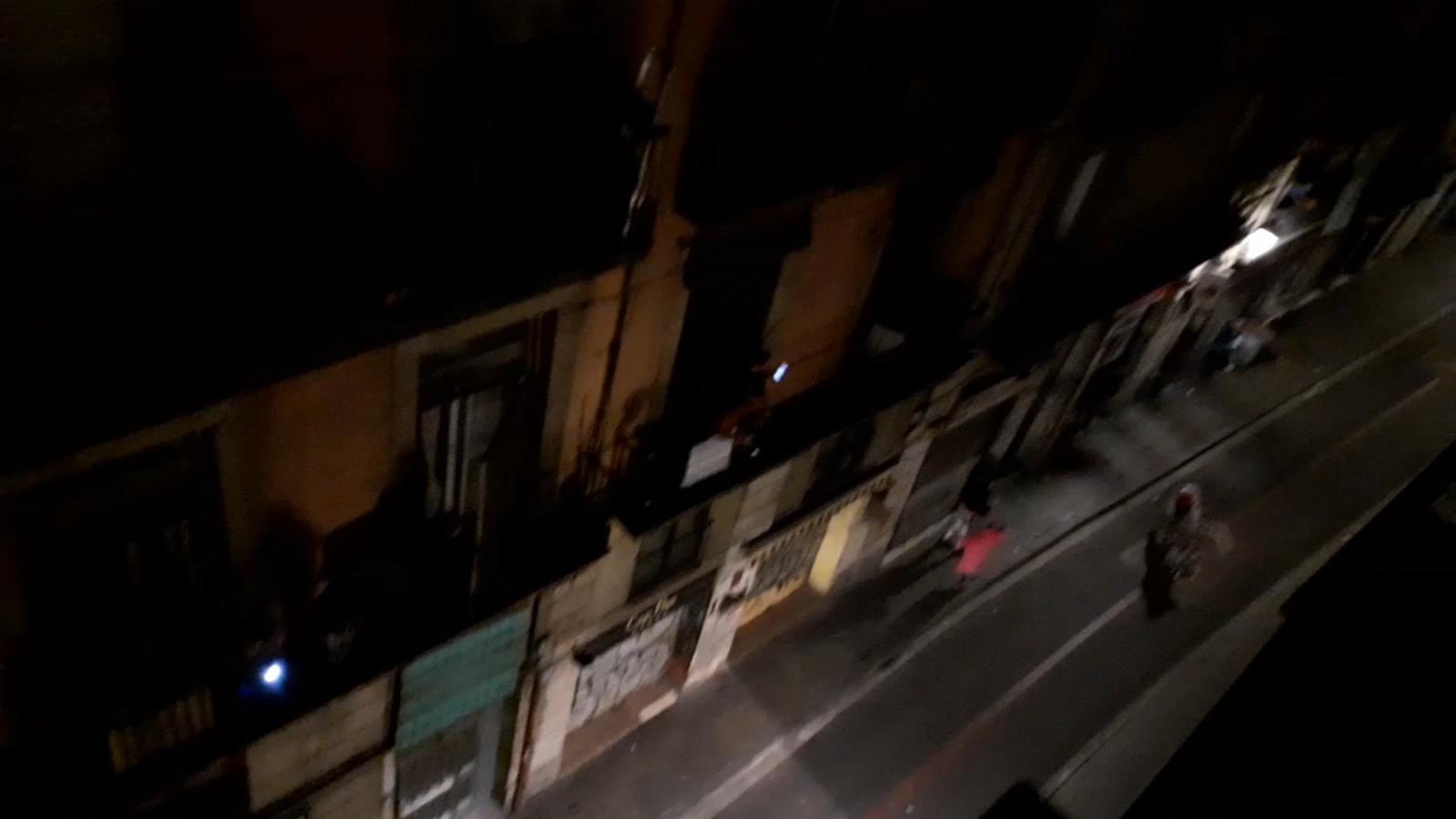 Protesta des veïns del carrer Sant Antoni Abat