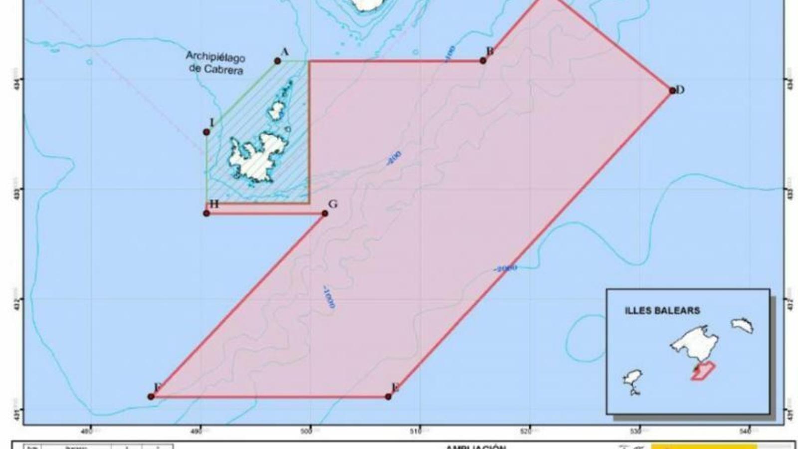 Imatge de l'ampliació del Parc Natural de Cabrera. / GOB