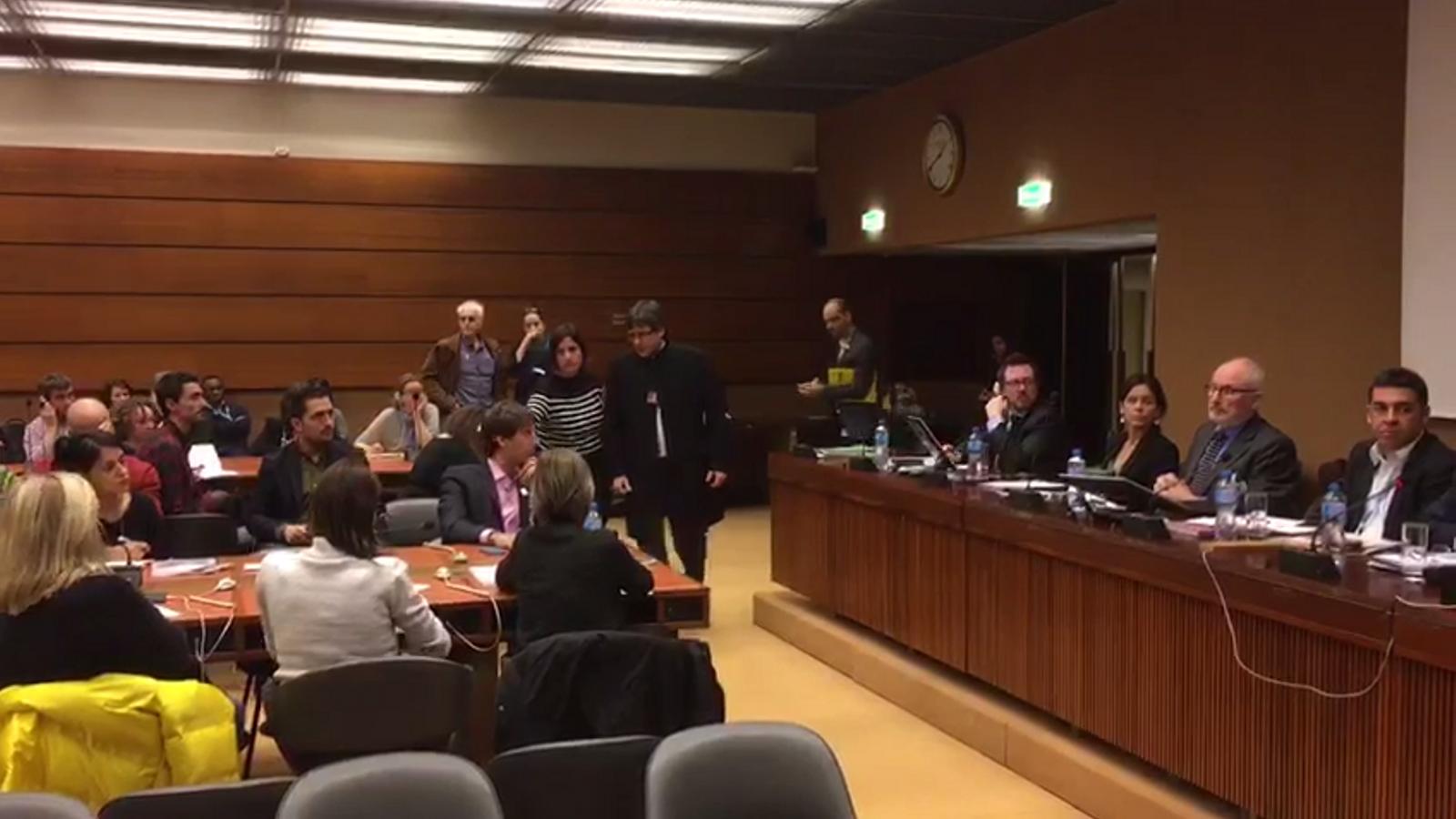 Arribada de Puigdemont a l'acte de la ONU