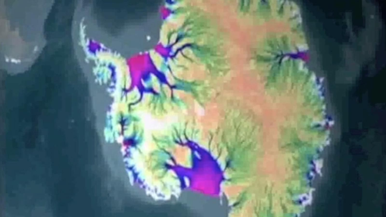 El moviment del gel a l'Antàrtida, en un mapa d'alta resolució