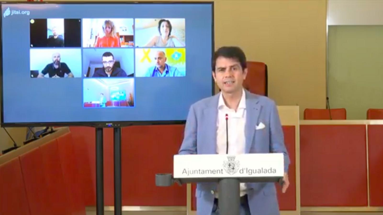EN DIRECTE | Roda de premsa de l'alcalde d'Igualada, Marc Castells, per informar de l'evolució de les mesures de confinament
