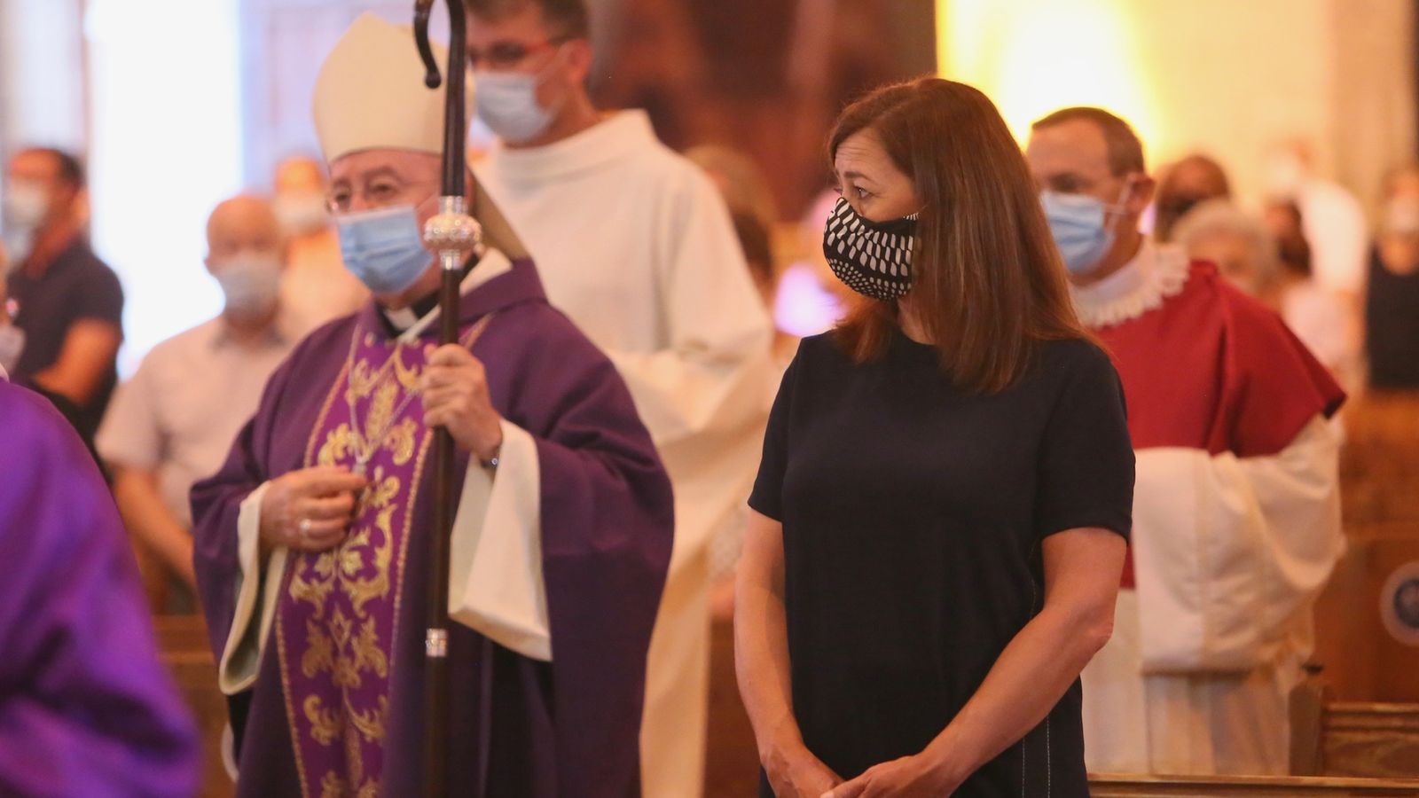 Misa a la Seu en memòria dels morts del covid-19