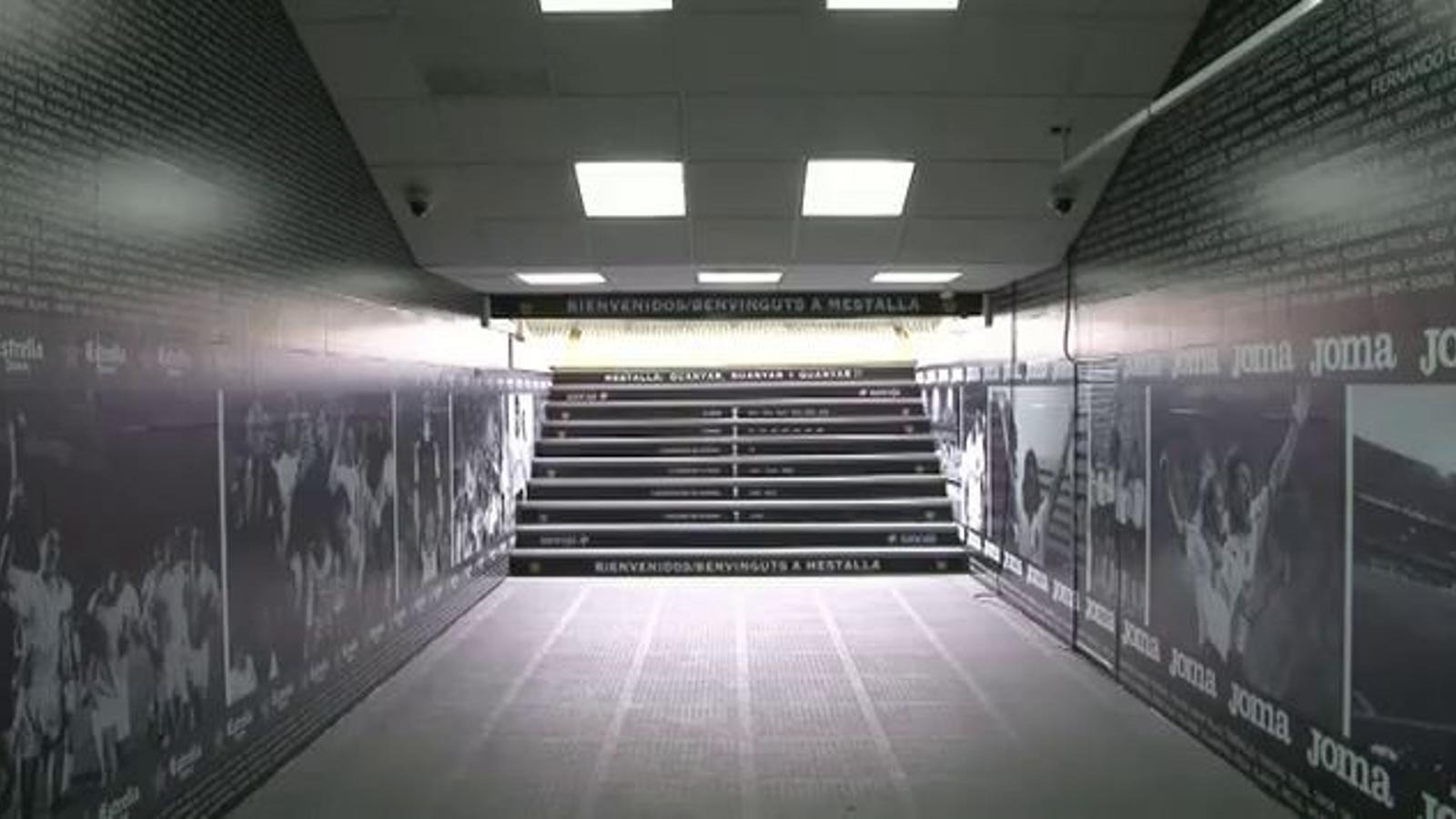 Així és el nou passadís de Mestalla que estrenaran els jugadors del Madrid
