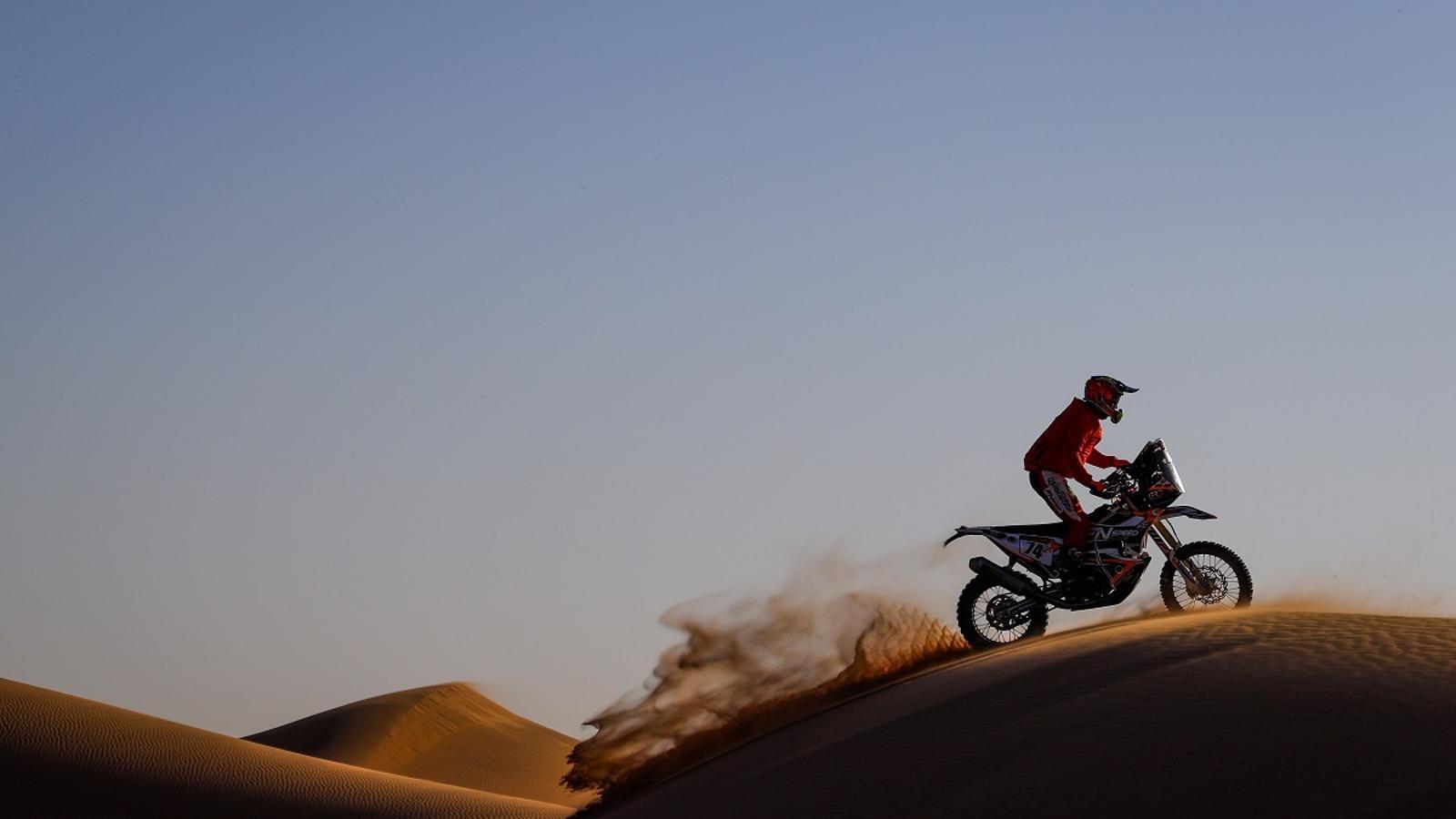 Betriu, durant la seva participació al Dakar 2020