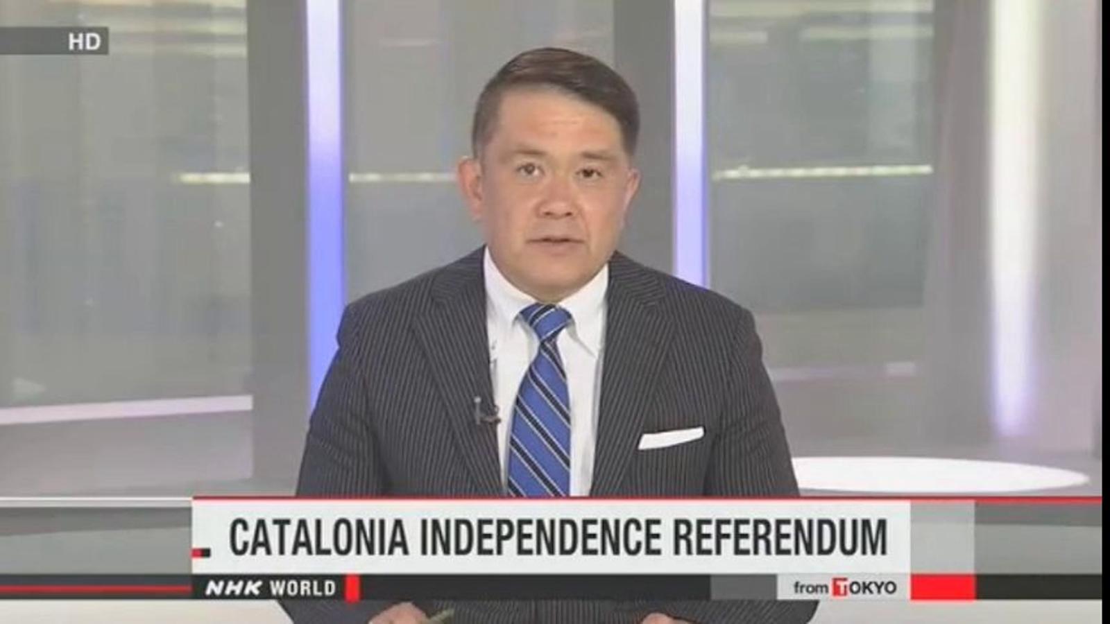 Les accions legals del govern espanyol contra el 9-N, a la japonesa NHK World