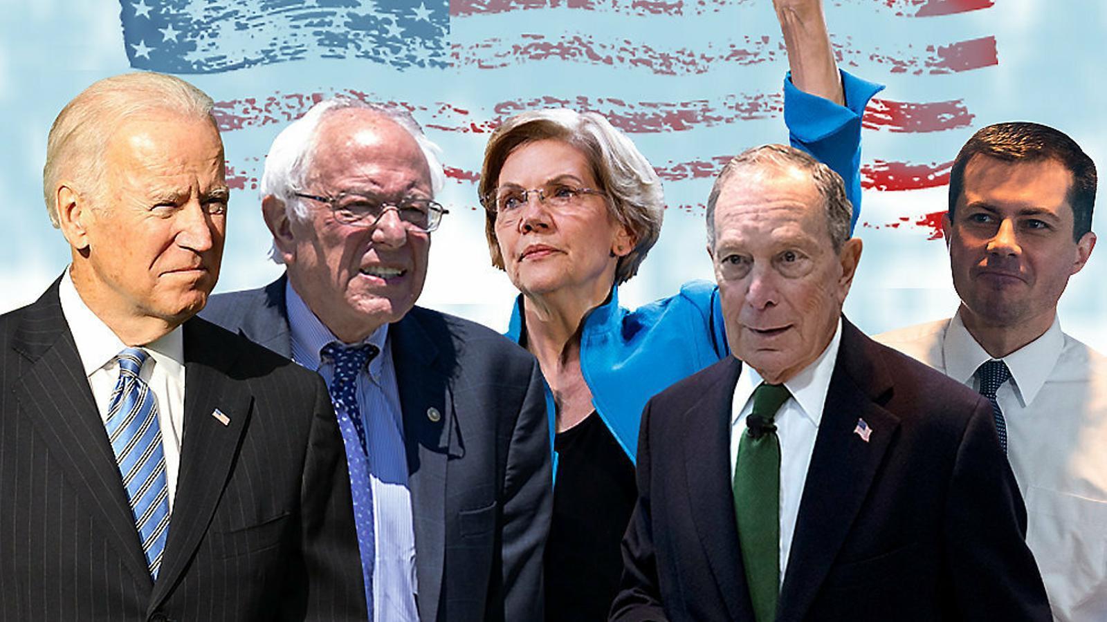 Els candidats a la cursa demòcrata per derrotar Trump