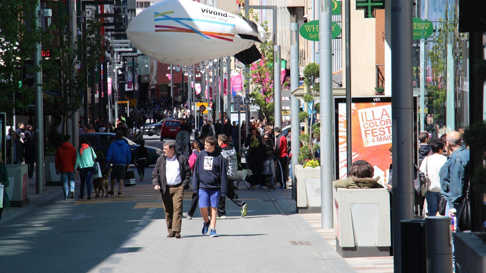 L'avinguda Carlemany aquest dissabte. / G.L.T. (ANA)