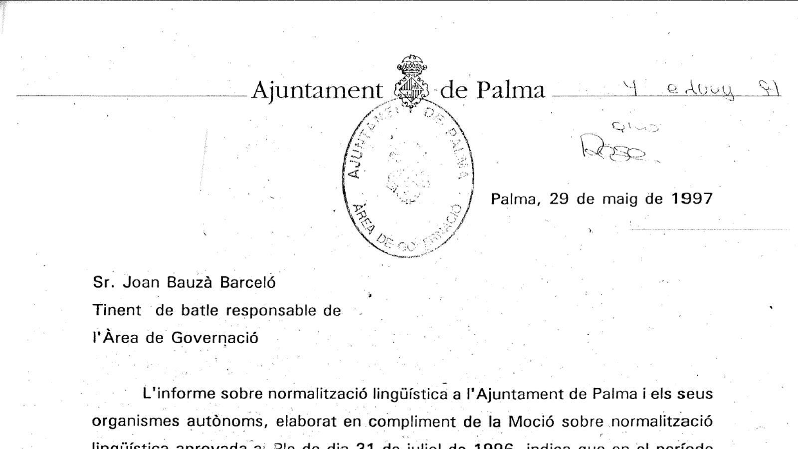 Carta emesa pel PP el 1997