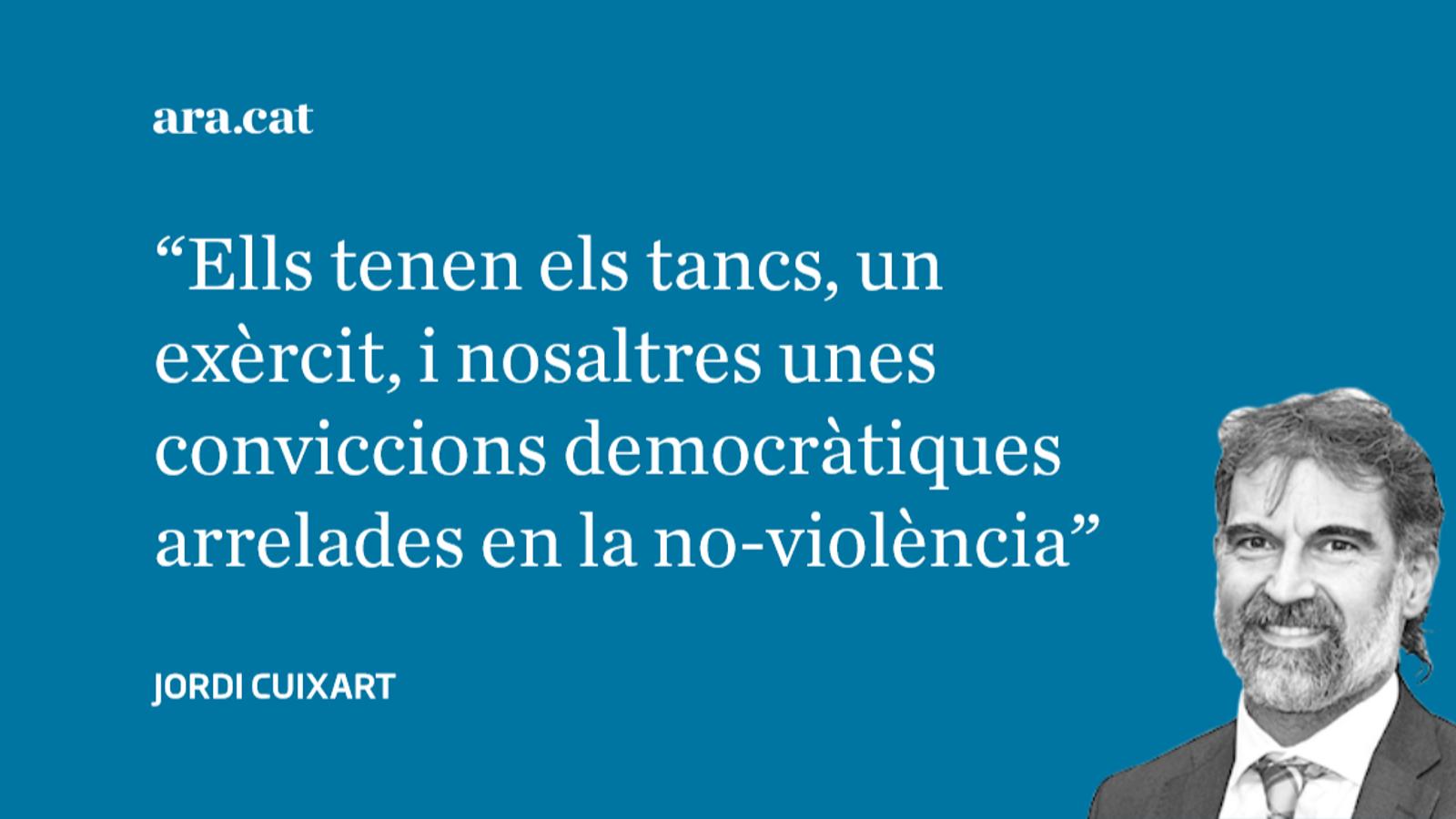 Carta a David Fernàndez: 'Coratge i sort' (Jordi Cuixart)