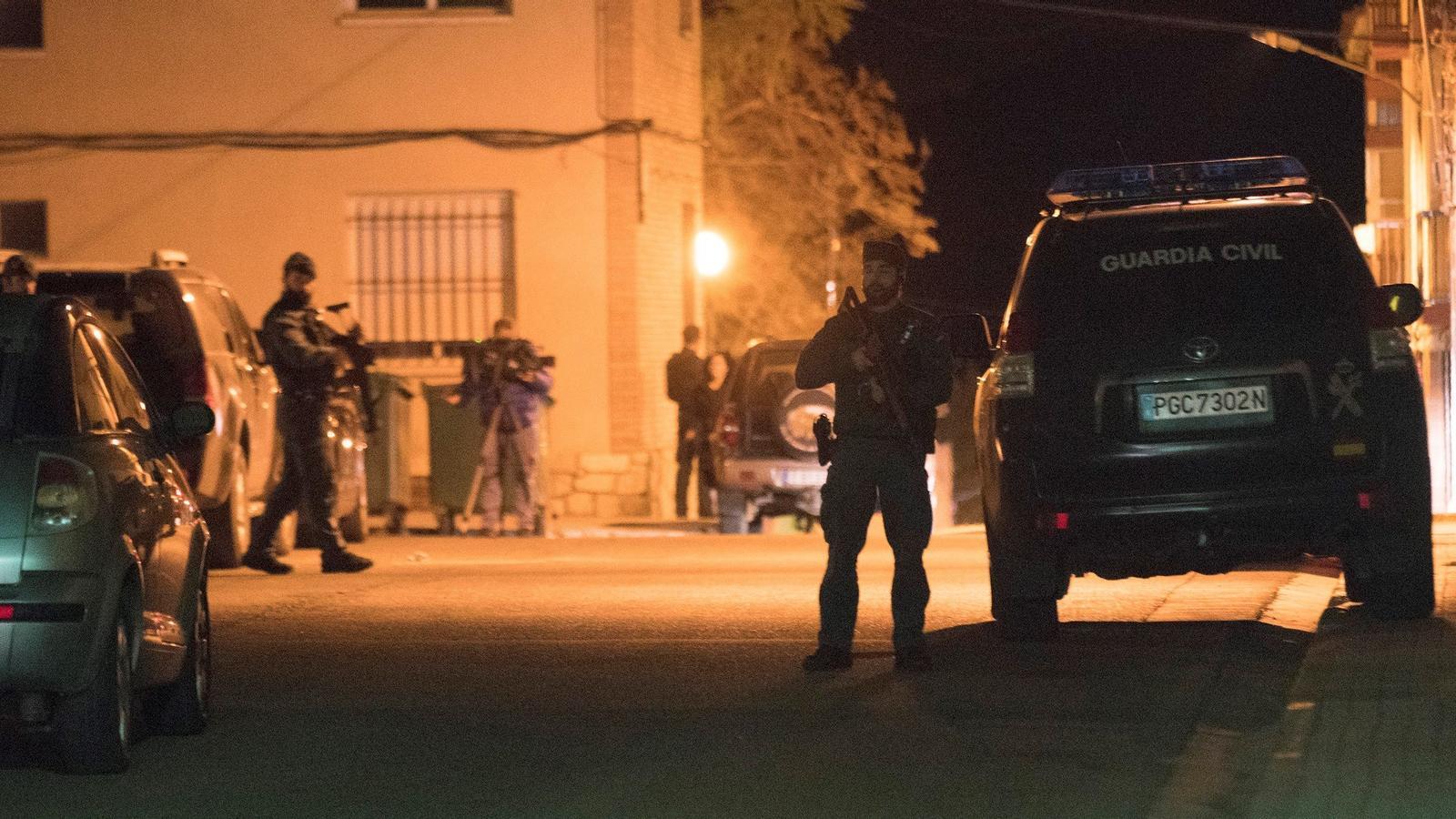 El dispositiu policial organitzat arran del tiroteig a Terol