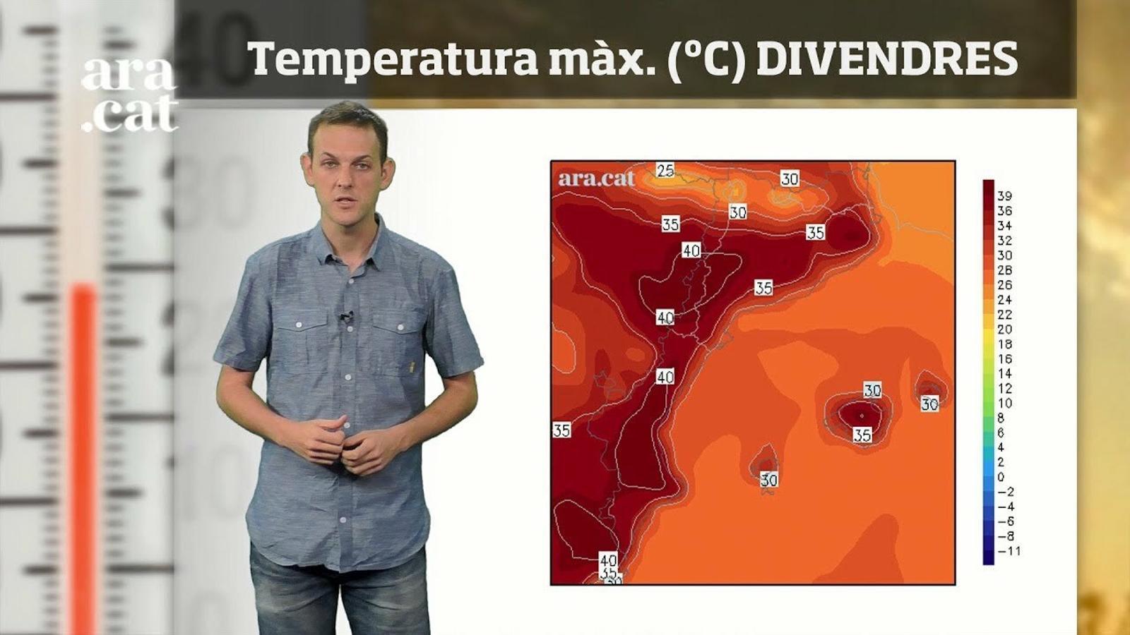 La méteo en 1 minut: divendres hi haurà un nou pic de calor
