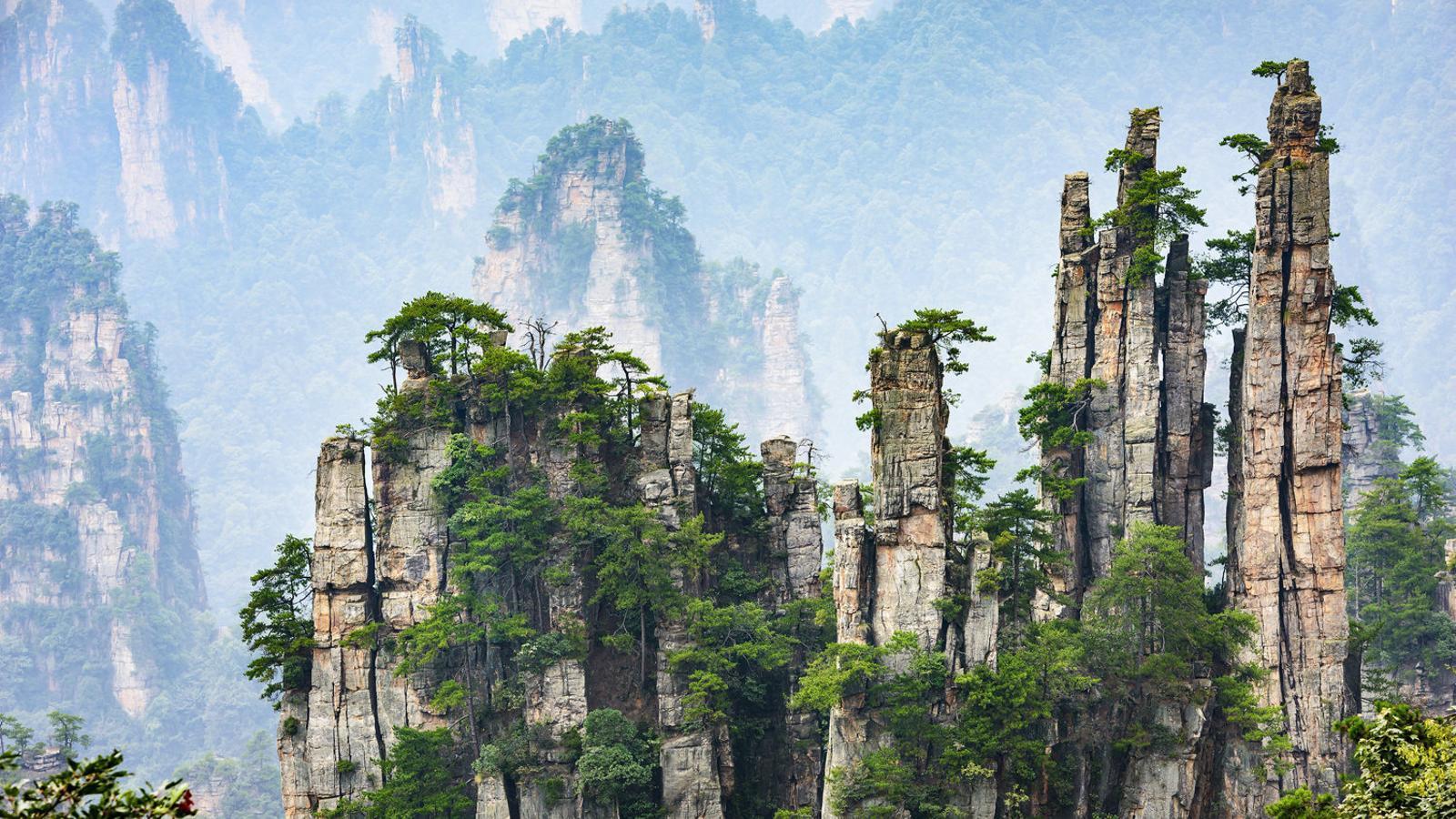 Muntanyes a la regió de Wulingyuan, a la Xina.