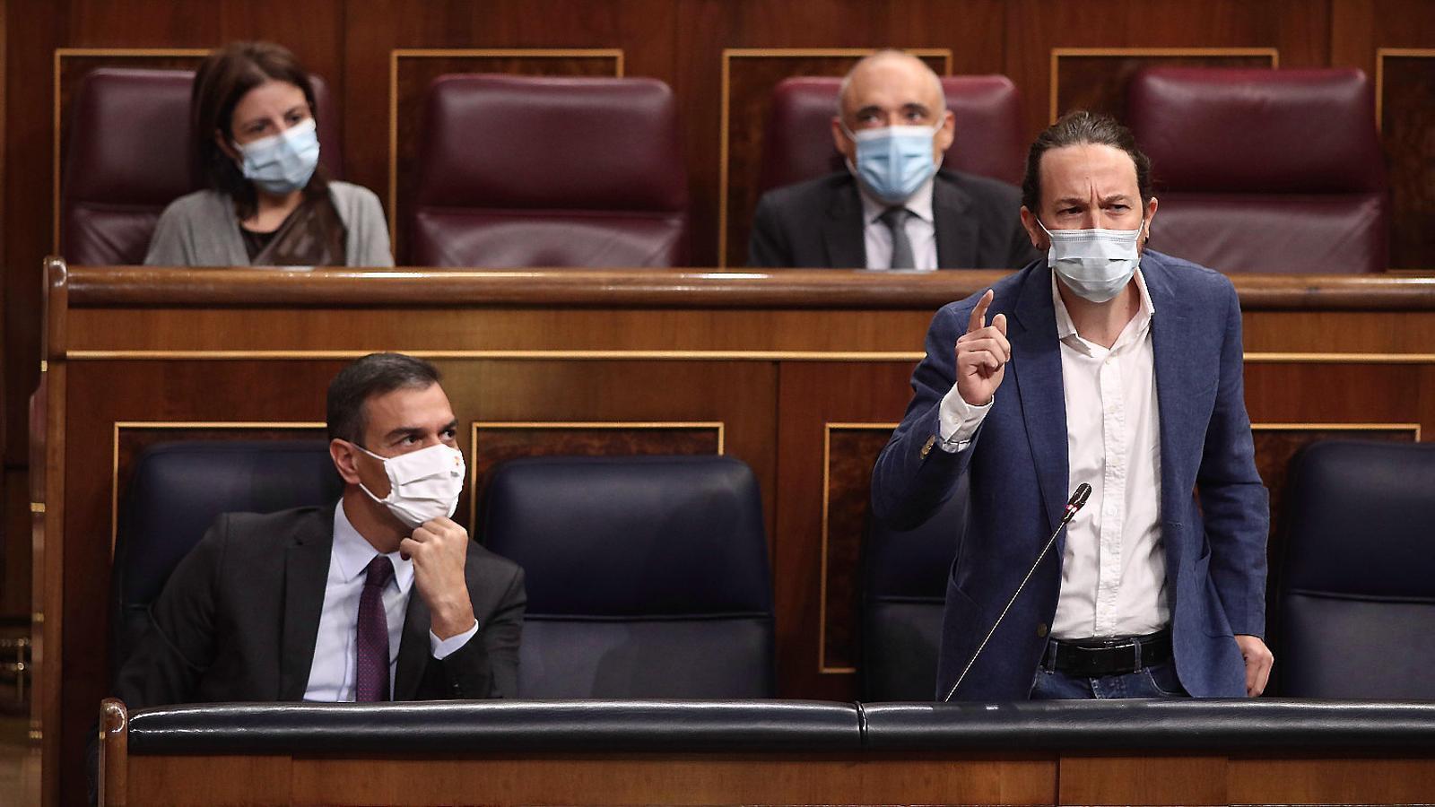 Pablo Iglesias intervenint ahir al Congrés