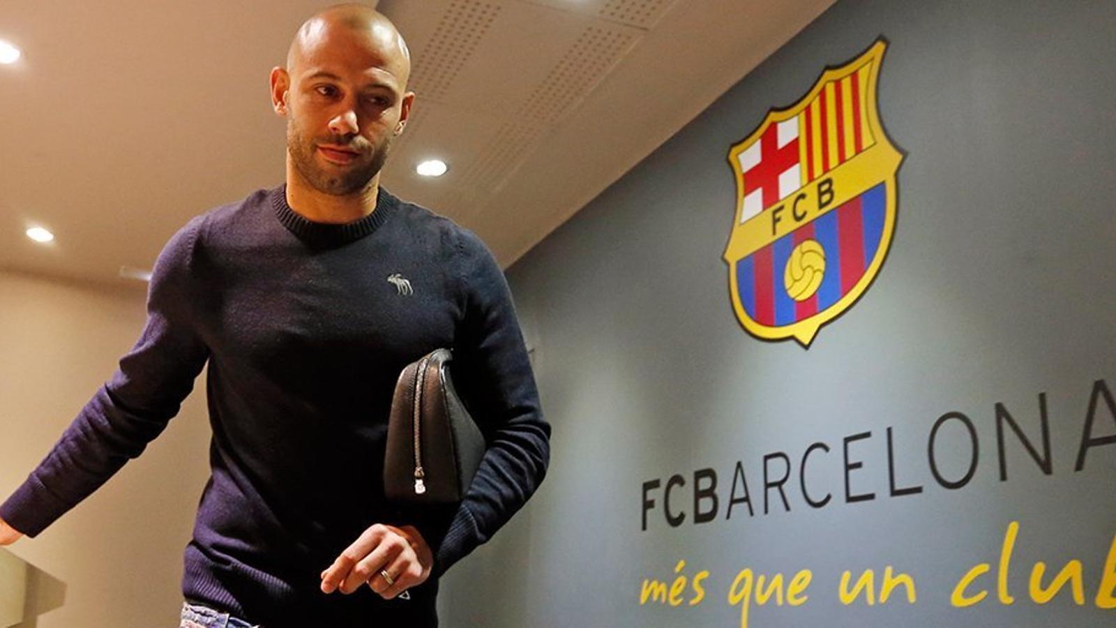 Mascherano renova pel Barça per les tres properes temporades