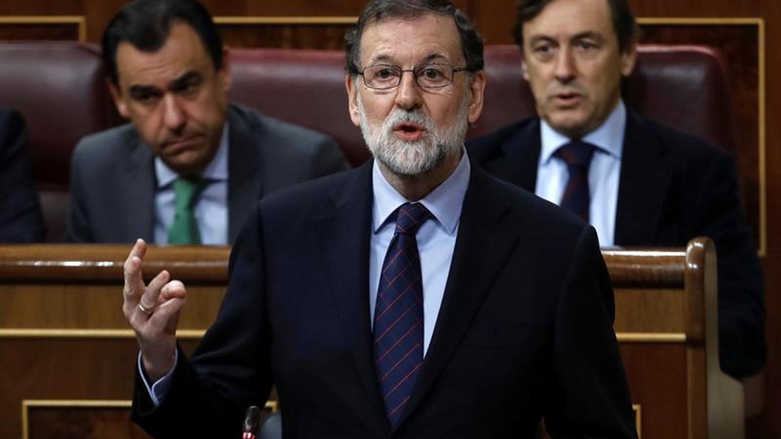 El president del govern espanyol, Mariano Rajoy, a la sessió de control al Congrés.