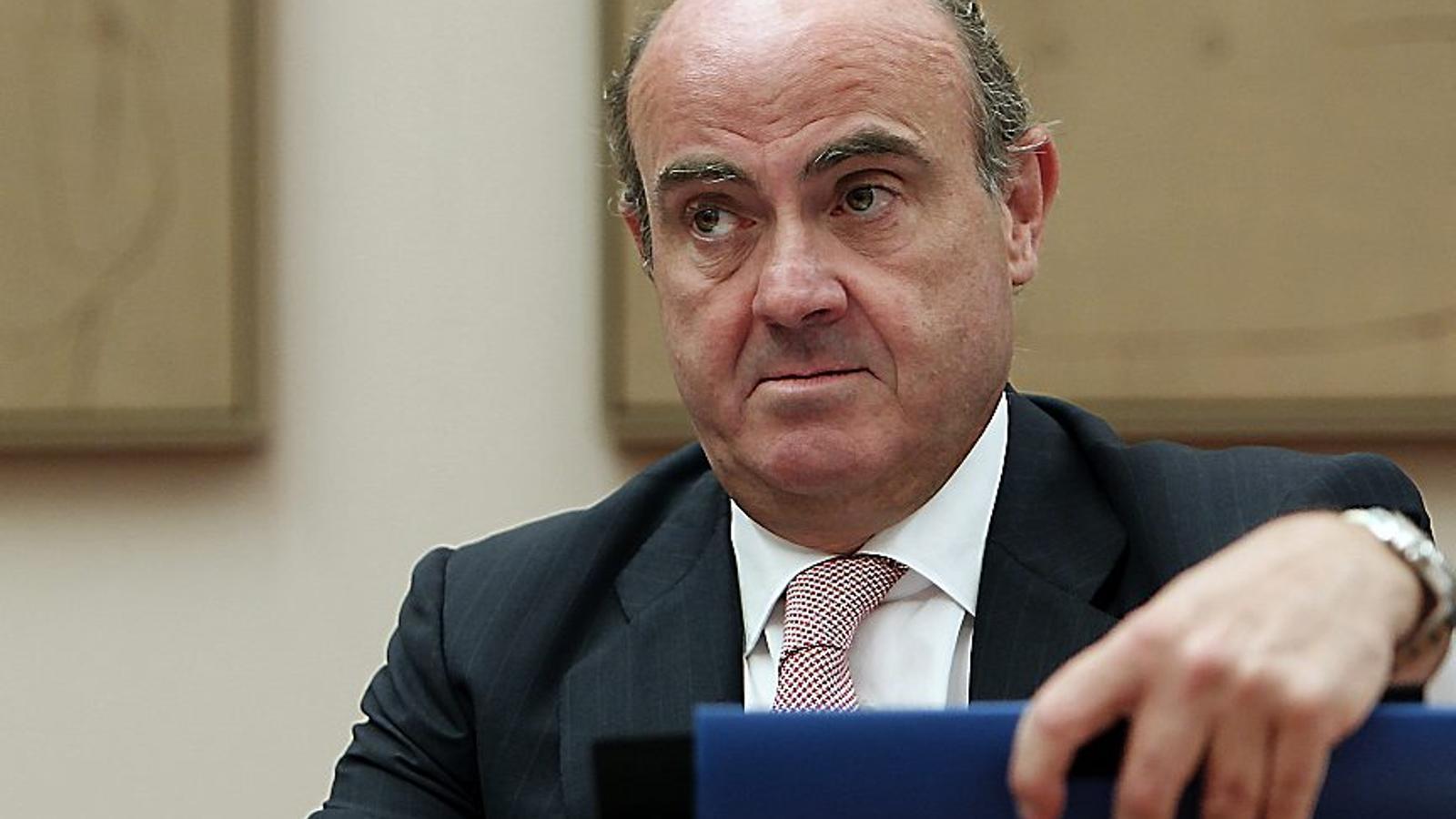 El ministre d'Economia, Luis de Guindos, va anunciar ahir al Congrés la mesura.