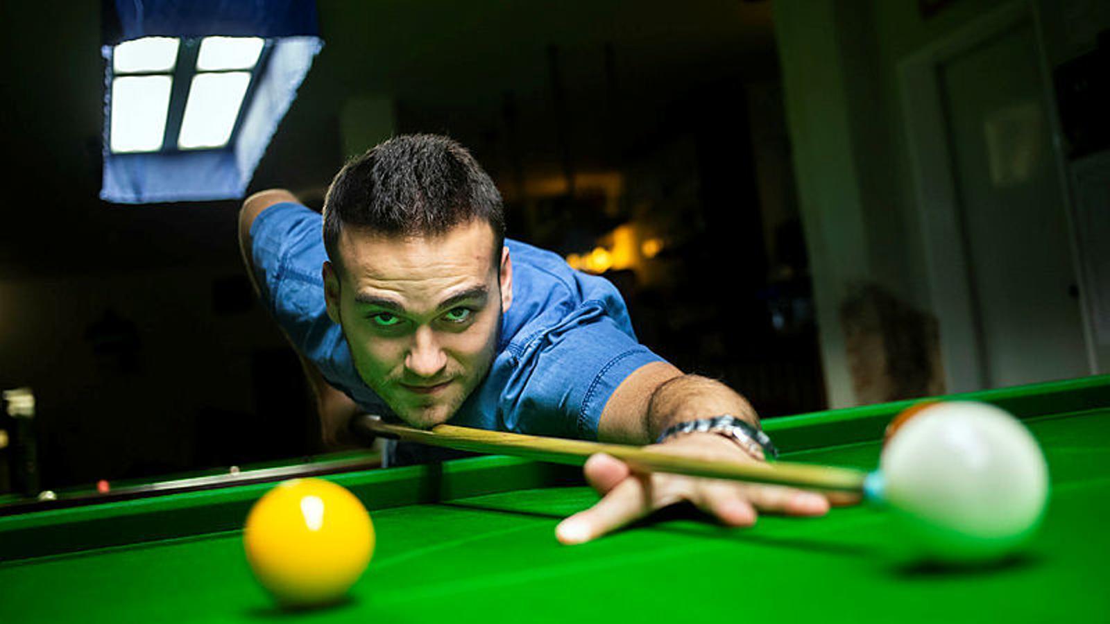 Aleix Melià, subcampió d'Espanya d''snooker'