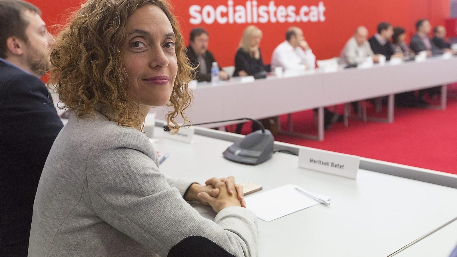 Meritxell Batet va comunicar ahir a l'executiva del PSC que vol optar a ser la cap de llista dels socialistes catalans a les eleccions espanyoles del 26 de juny. / MANOLO GARCÍA