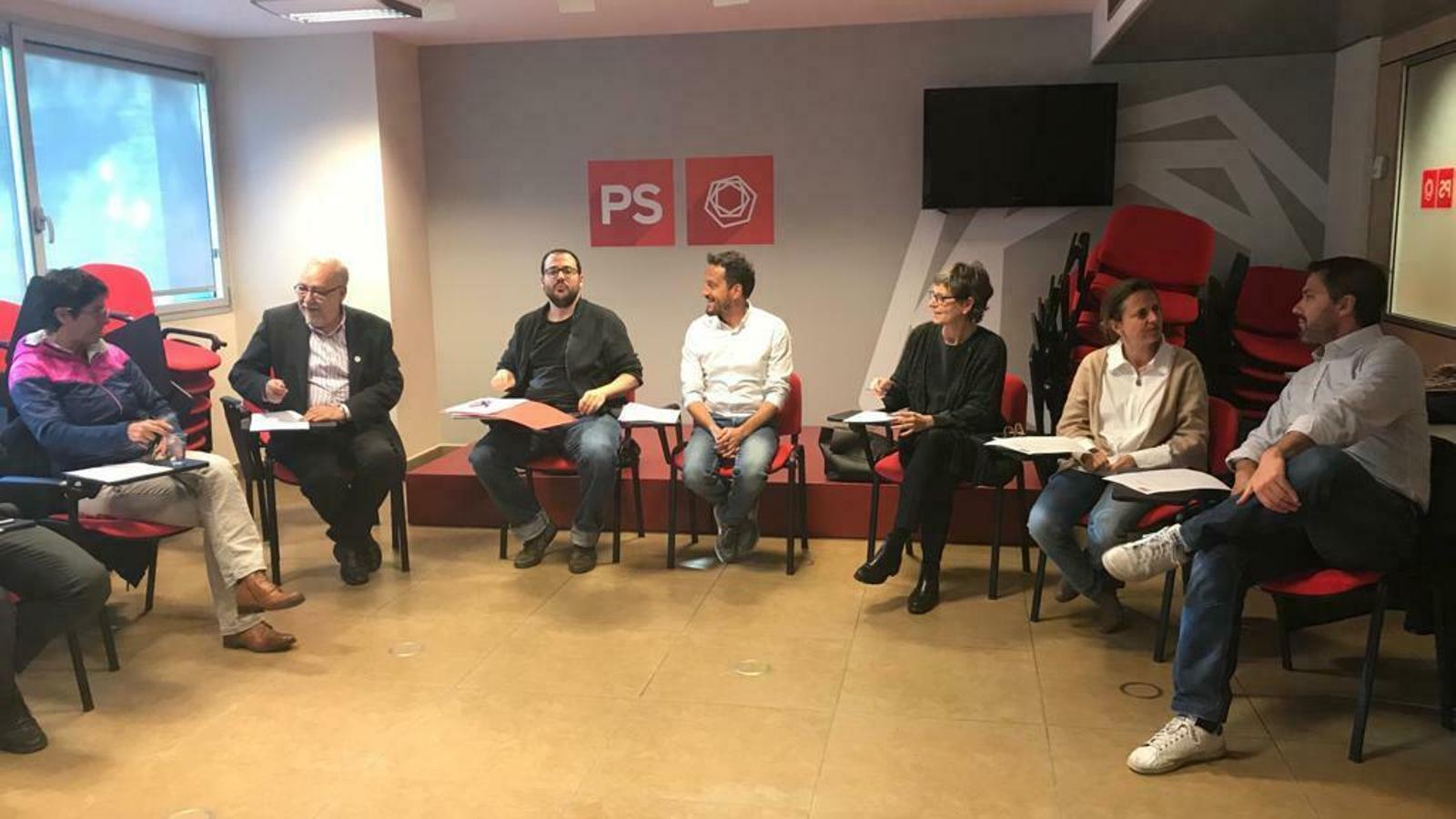 Una de les darreres sessions del comitè directiu del PS. / PS