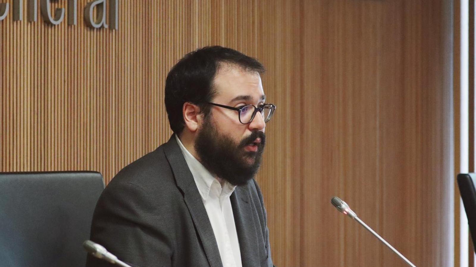 El conseller del grup parlamentari socialdemòcrata Carles Sánchez. / PS