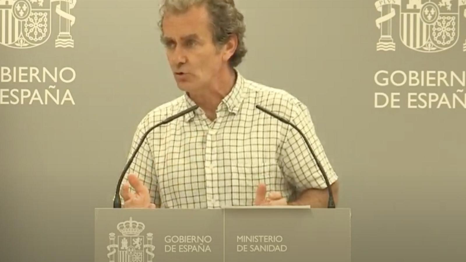 Fernando Simón durant la roda de premsa d'aquest dijous