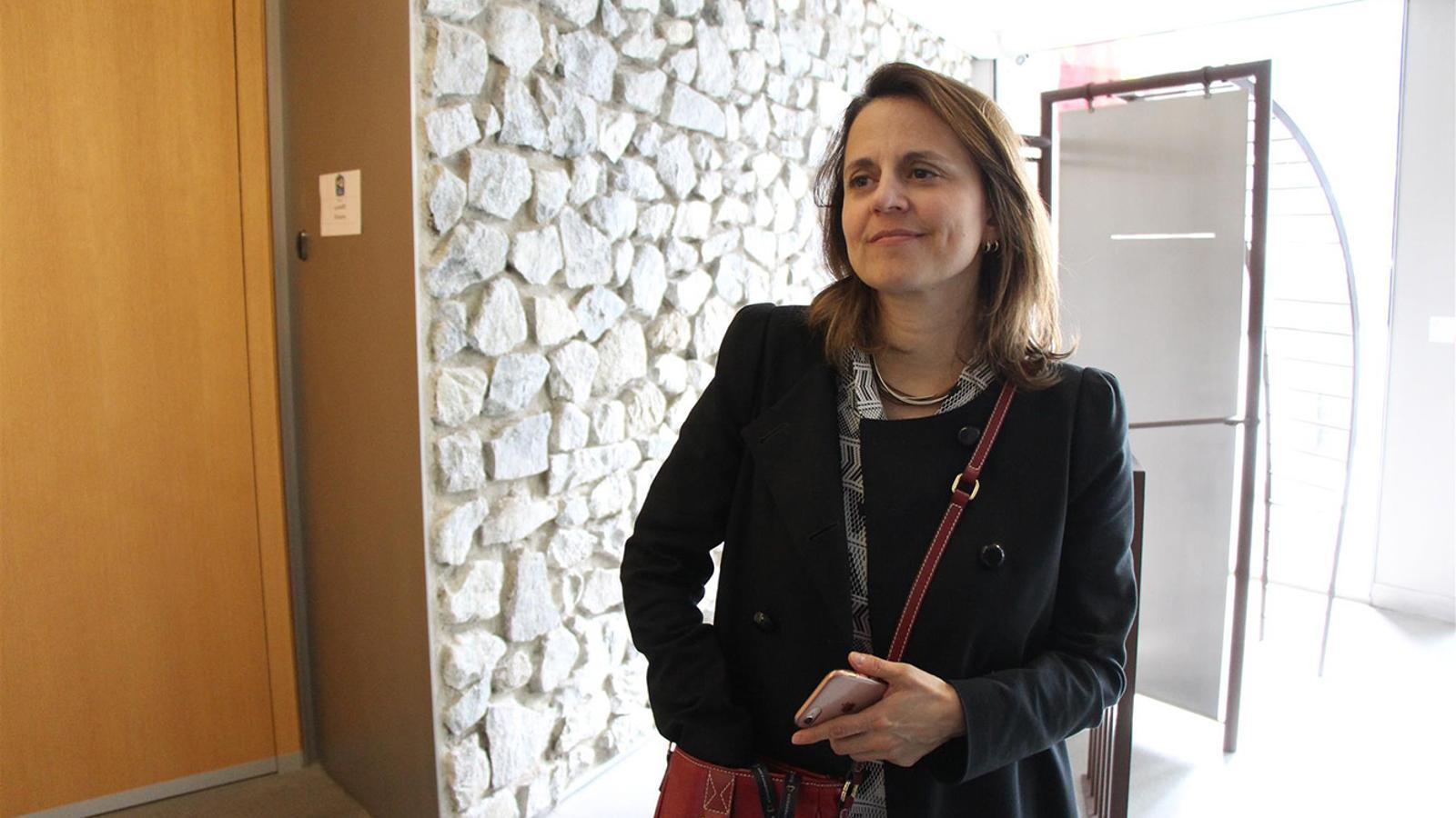 La consellera del PS, Rosa Gili aquest dijous al Consell General. M. T.