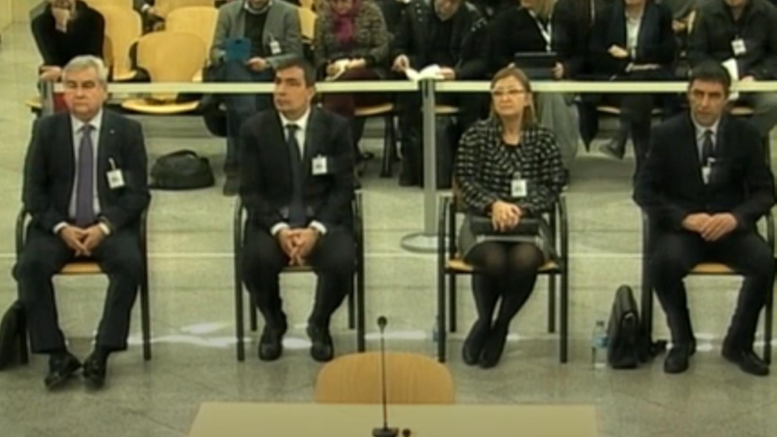 La Audiencia Nacional notifica la absolución de Trapero, Soler, Puig y Laplana