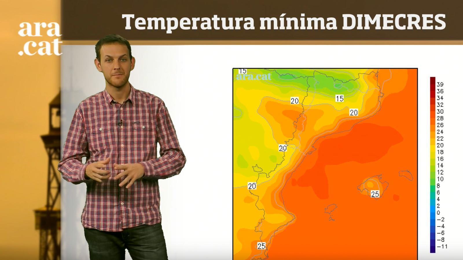 La méteo en 1 minut: més tronades i una calor més moderada
