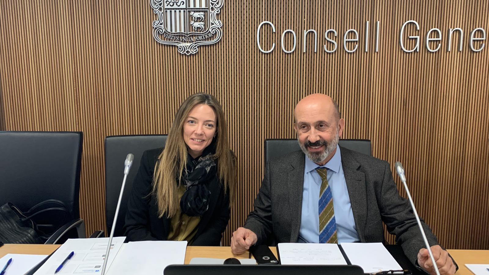 La secretària d'Estat de Salut, Helena Mas, i el ministre de Salut, Joan Martínez Benazet. / C. A. (ANA)
