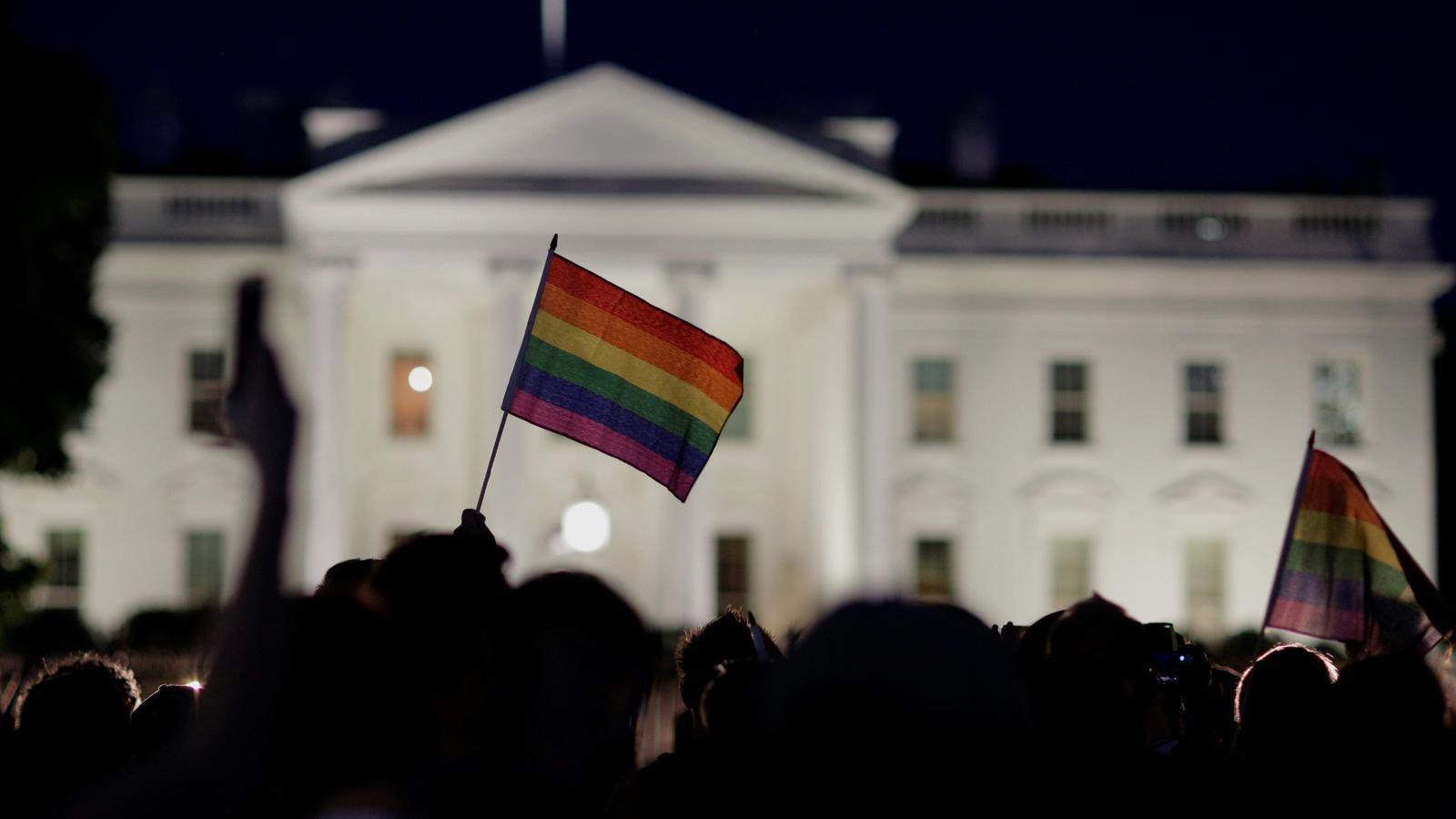 Davant de la Casa Blanca a Washington, Estats Units.
