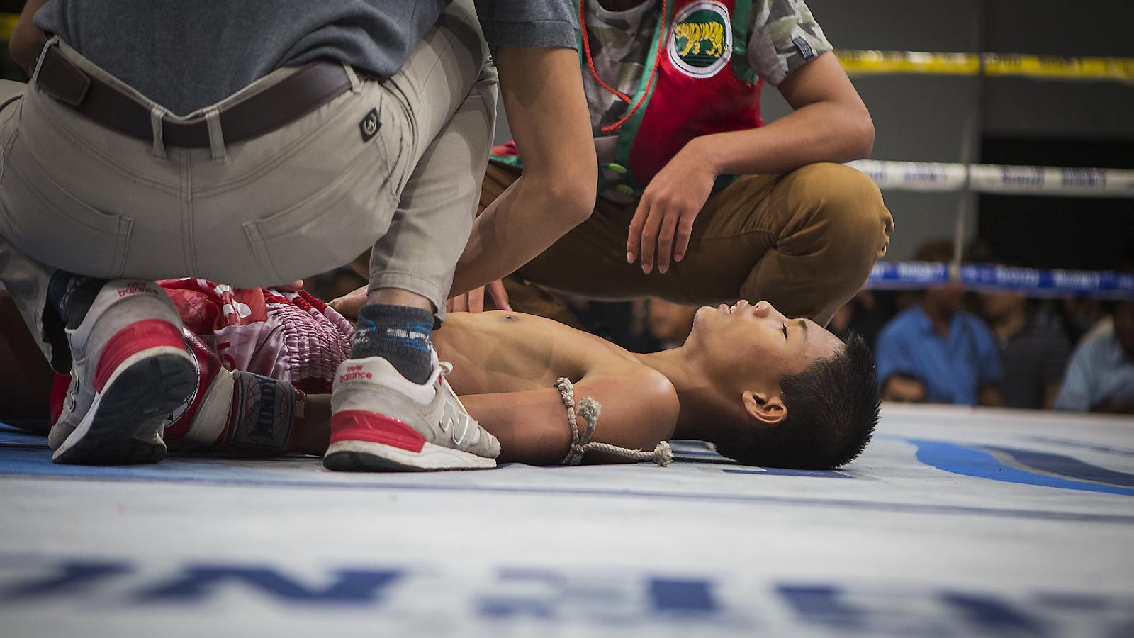 Els petits boxejadors de Tailàndia