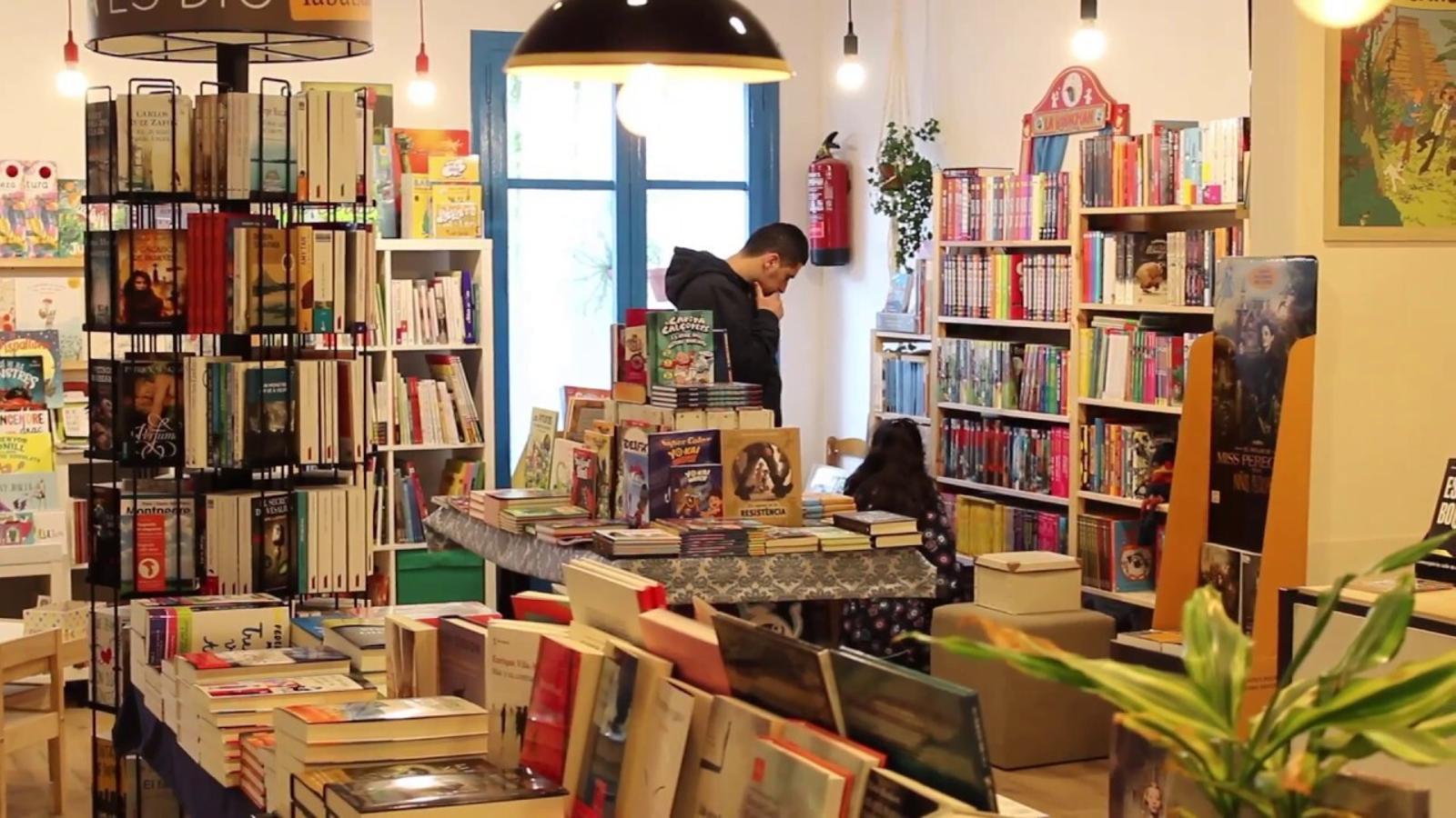 Interior de la llibreria Bookman de Figueres
