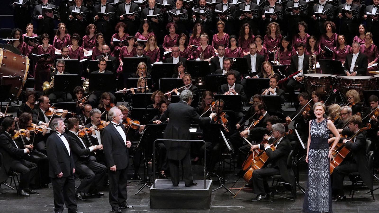 Un moment de la versió concert de 'La vídua alegre' al Liceu. / A. Bofill (Gran Teatre del Liceu)