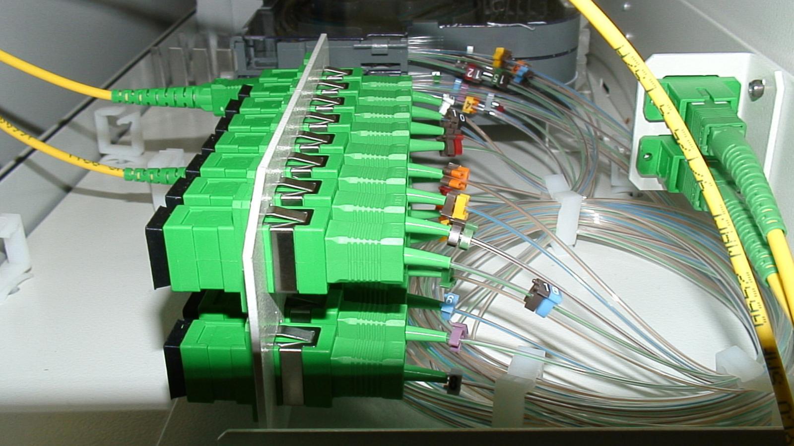 Connexió a internet per fibra òptica / ANA