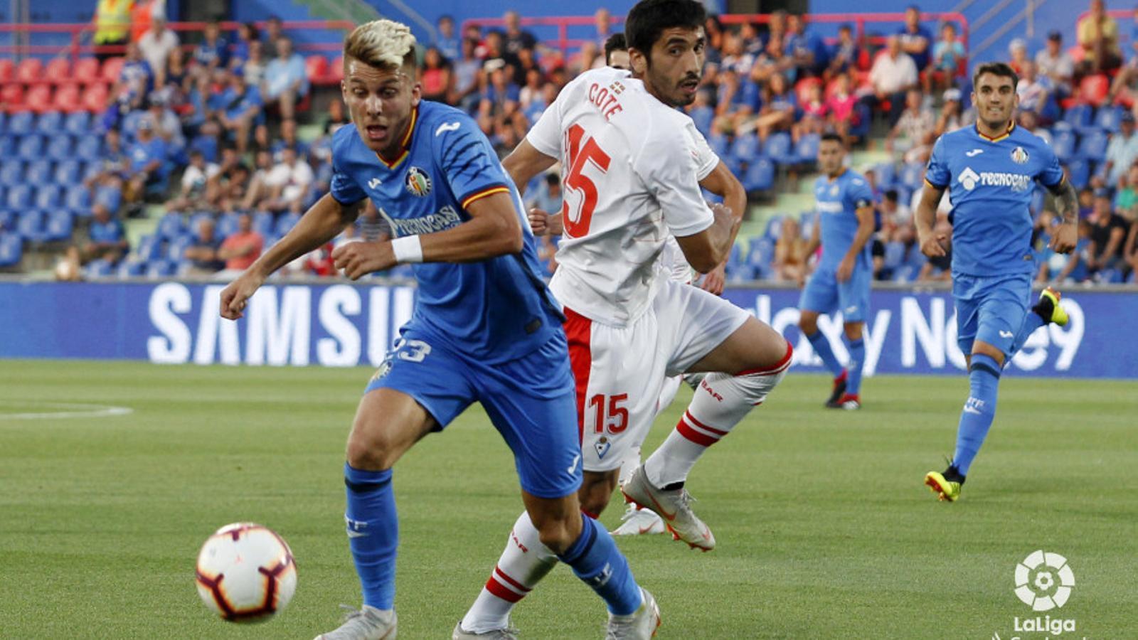 Iván Alejo, durant un partit d'aquesta temporada