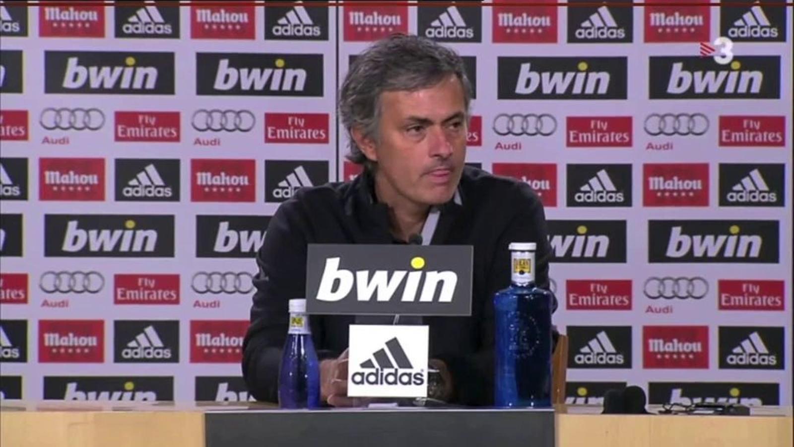 Mourinho, després de la derrota del Madrid al clàssic del Bernabéu: La sort ha marcat la diferència