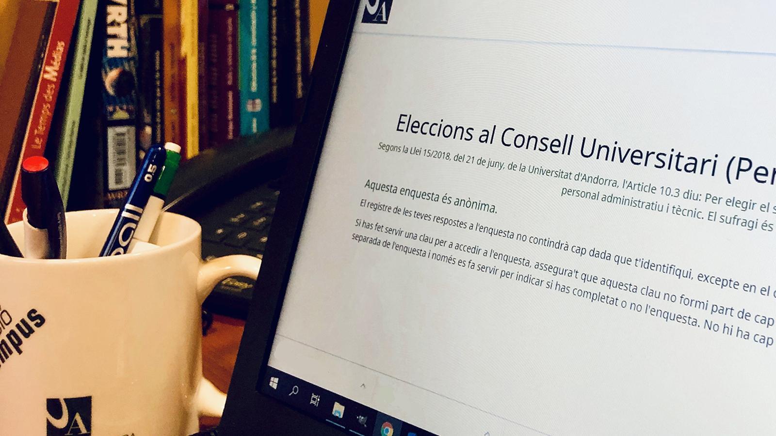 Les eleccions universitàries s'han fet amb vot electrònic. / UdA