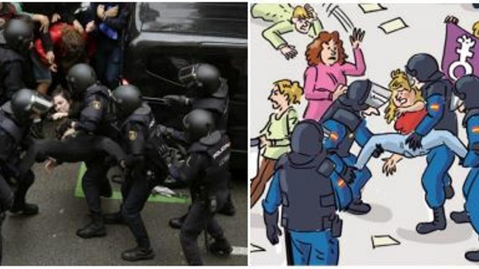 Imatge del comunicat de Comanegra, després de l'amenaça de denúncia policial