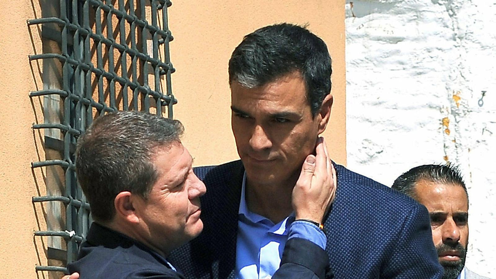 El president espanyol, Pedro Sánchez, amb Emiliano García Page.