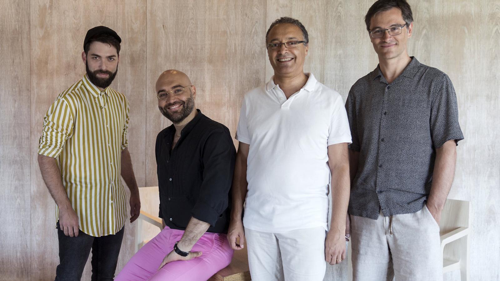 Rafael R. Villalobos, Xavier Sabata, Fausto Nardi i Dani Espasa. / DANI RÍOS
