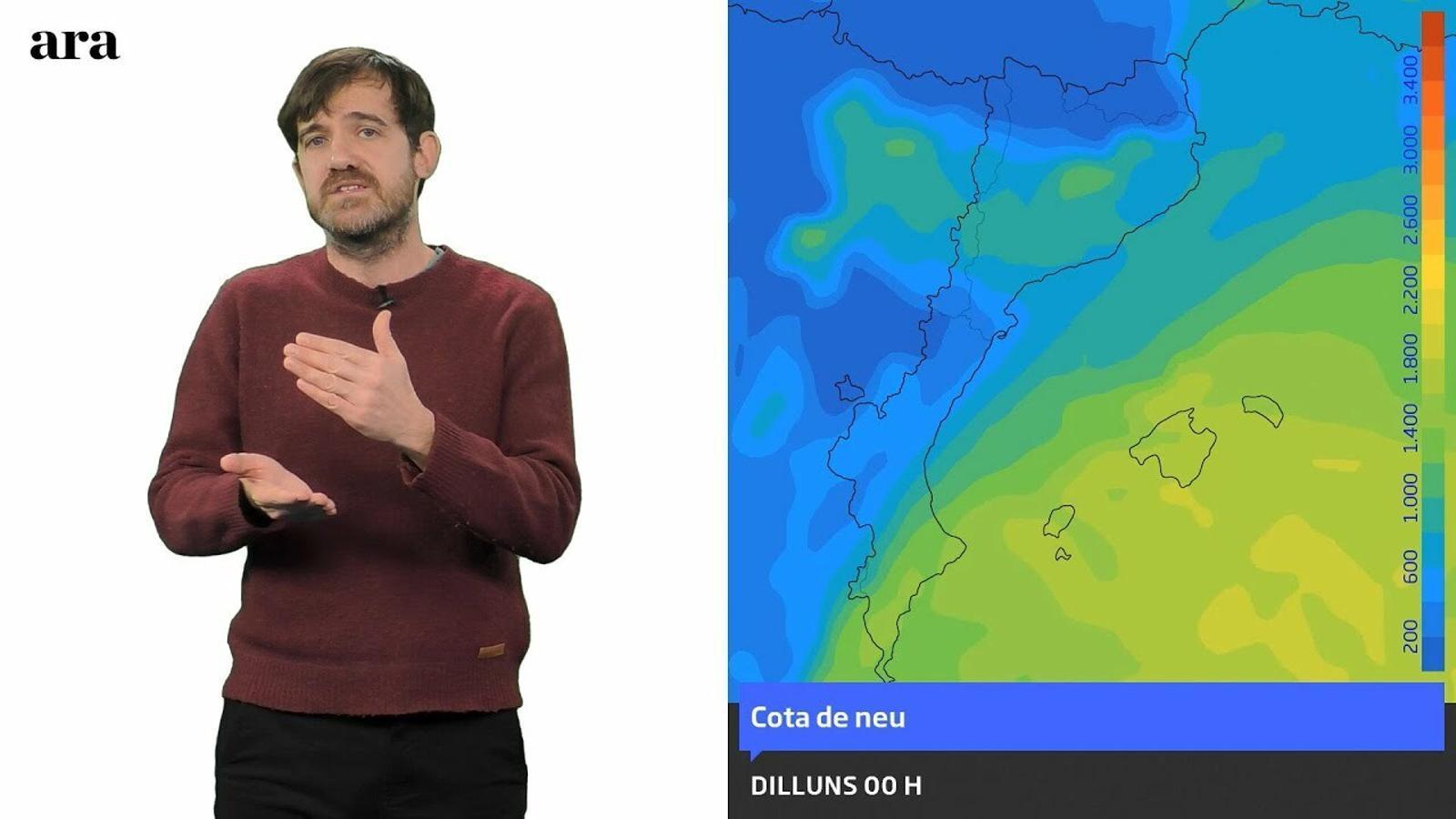 Méteo especial: pluges abundants, neu a cotes baixes i temporal de mar