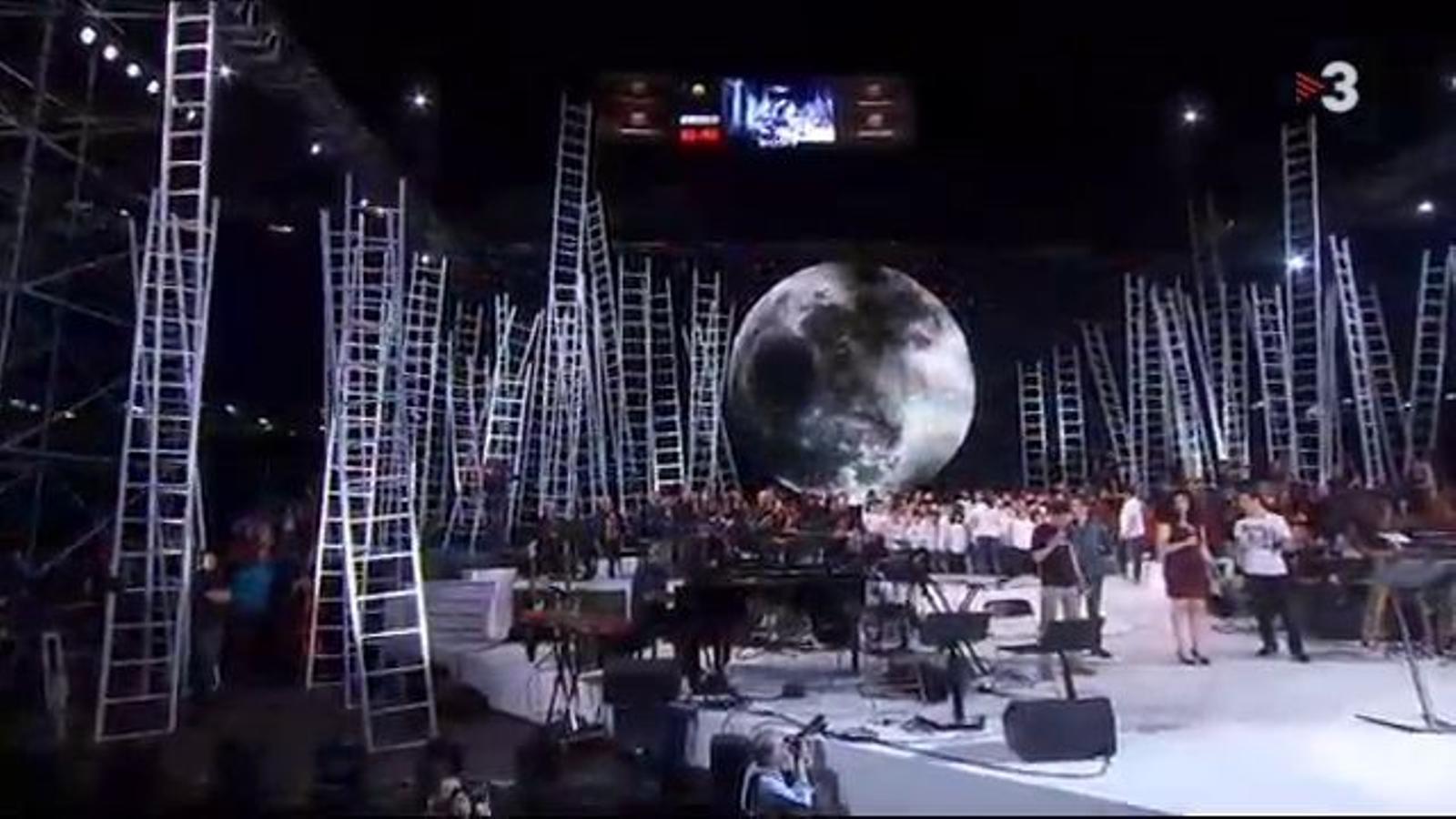 El moment de 'L'estaca', al Concert per la Llibertat