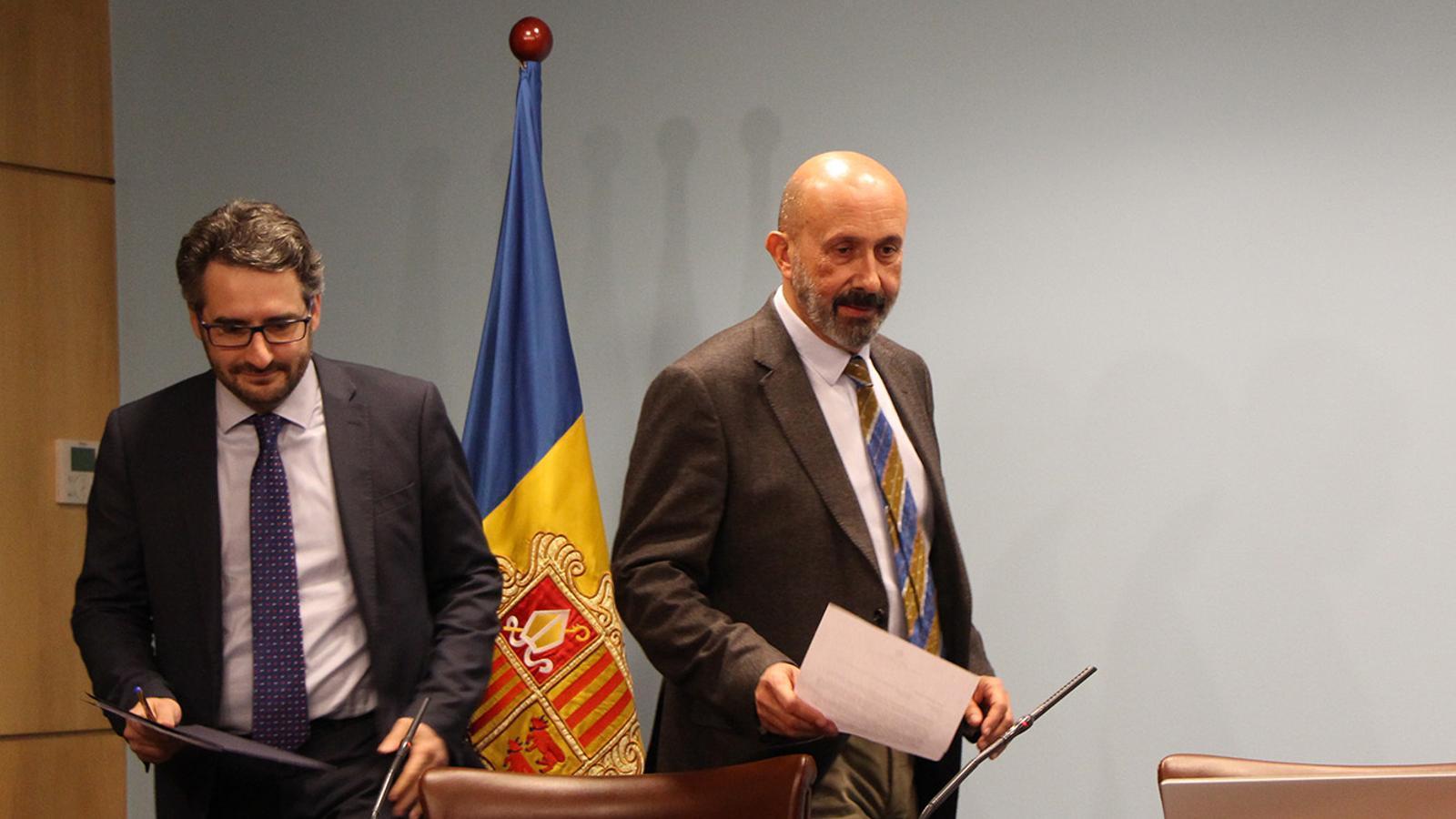 El ministre de Salut, Joan Martínez Benazet, moments abans de l'inici de la roda de premsa posterior al consell de ministres. / M. F. (ANA)