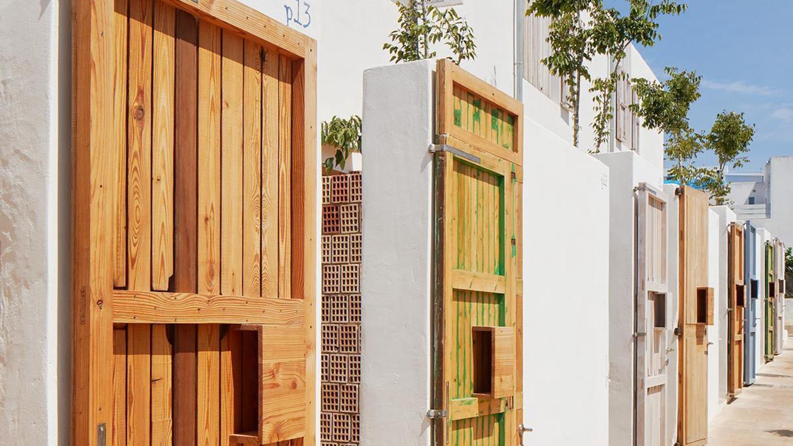 Els habitatges de l'Ibavi de Sant Ferran de Formentera.